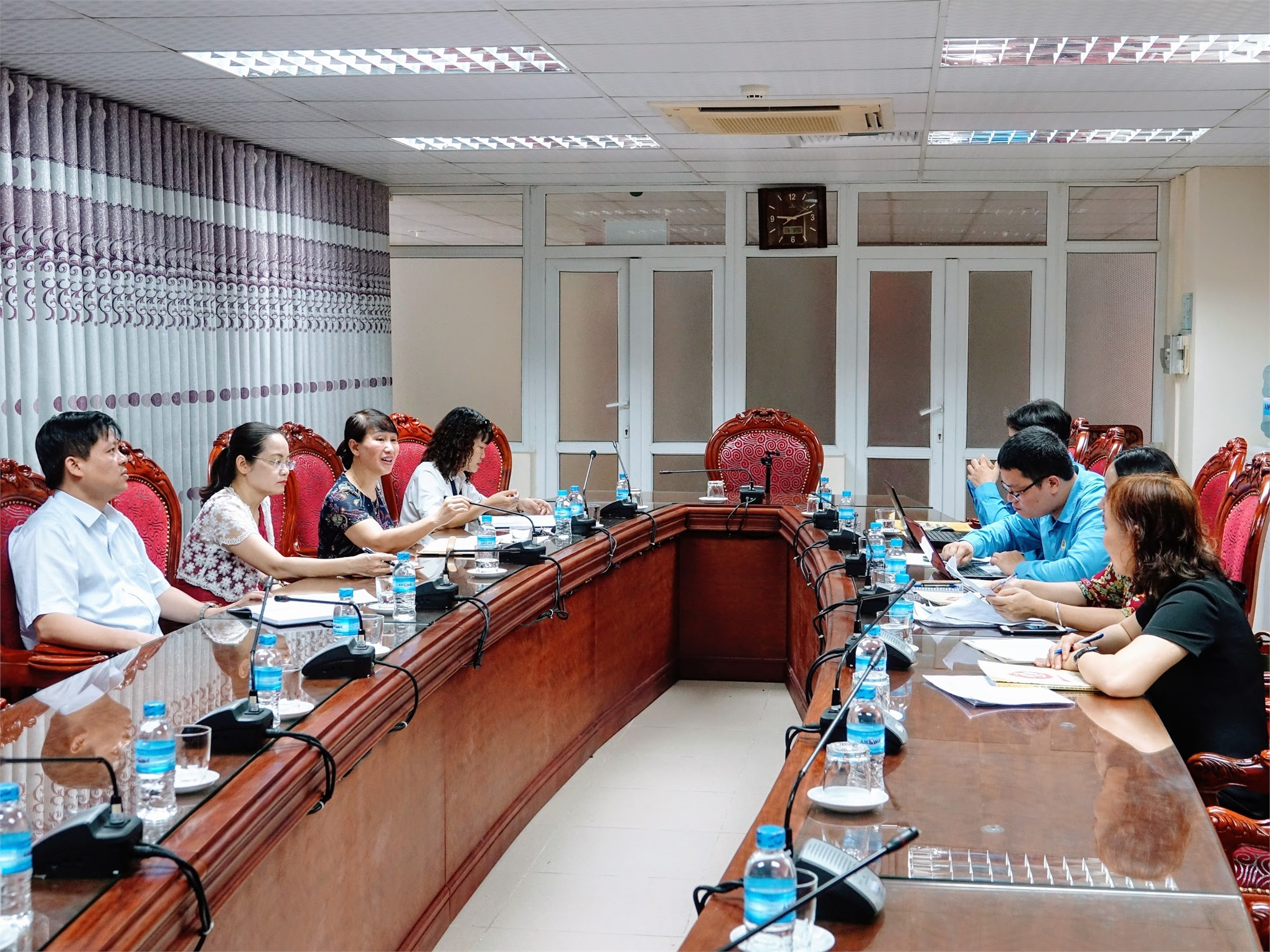 Đoàn công tác của Tổng Liên đoàn Lao động Việt Nam làm việc tại Đại học Công nghiệp Hà Nội