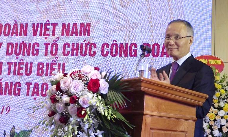 Thứ trưởng Bộ Công Thương Trần Quốc Khánh nhiệt liệt biểu dương thành tích của Công đoàn Công Thương Việt Nam