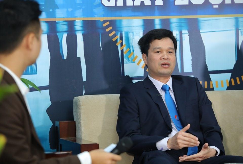 TS Kiều Xuân Thực – Trưởng phòng Đào tạo trường Đại học Công nghiệp Hà Nội nêu ý kiến. Ảnh: Tô Thế