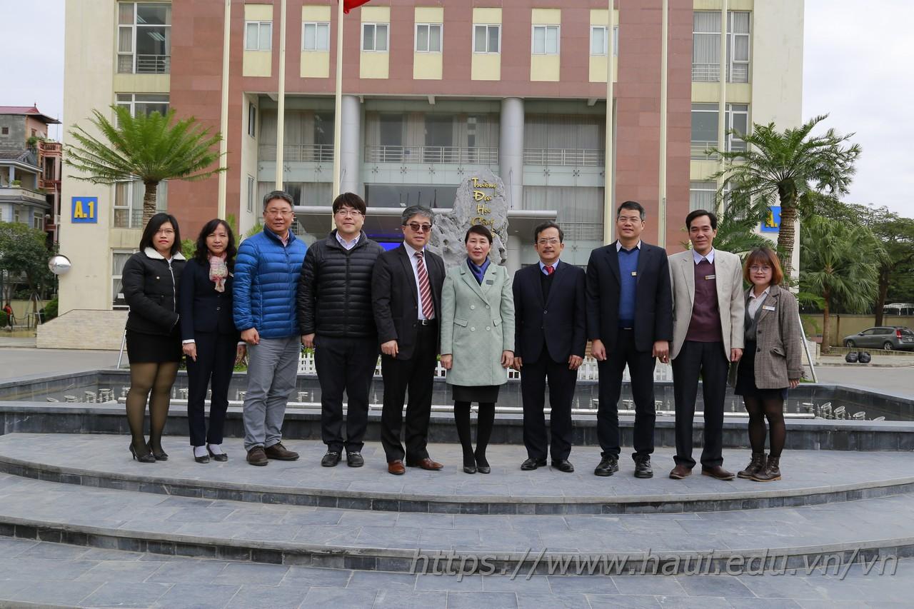 Đại học Kangnam, Hàn Quốc trao đổi hợp tác đào tạo với Đại học Công nghiệp Hà Nội
