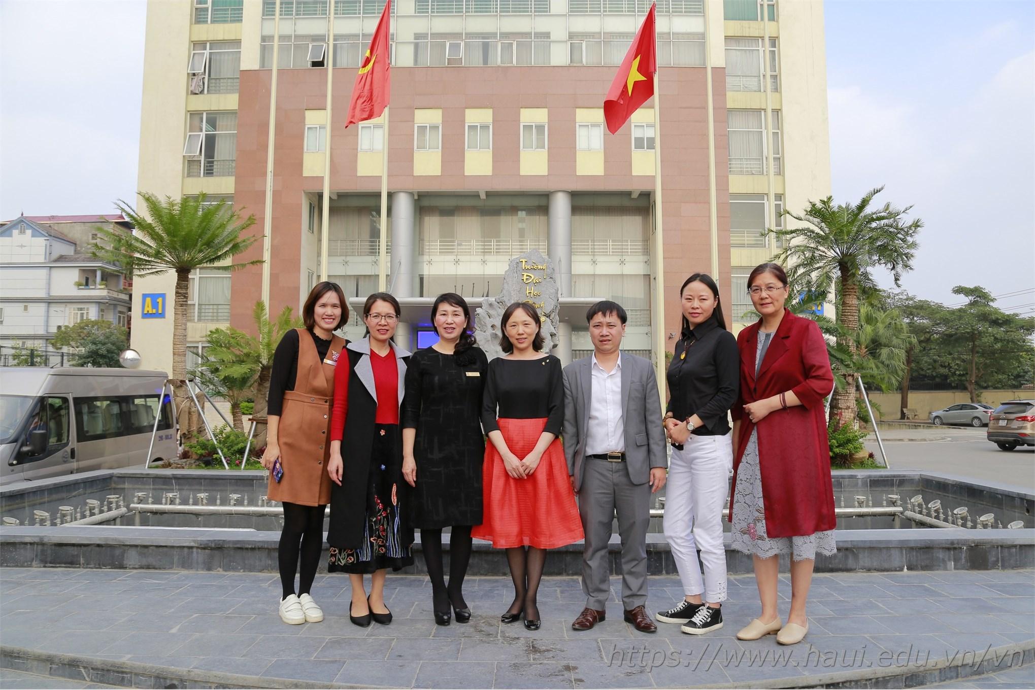 Học viện Công nghệ Trung Nguyên (Trung Quốc) thăm và trao đổi hợp tác với Đại học Công nghiệp Hà Nội