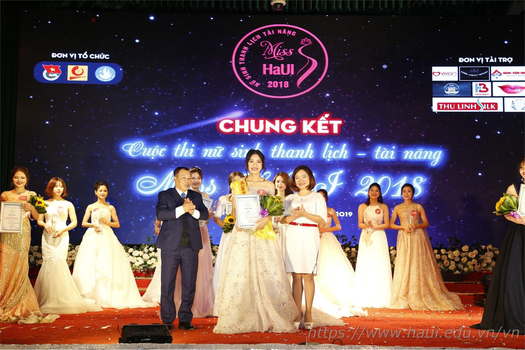 """Chung kết Cuộc thi Nữ sinh thanh lịch - tài năng """"Miss HaUI 2018"""""""