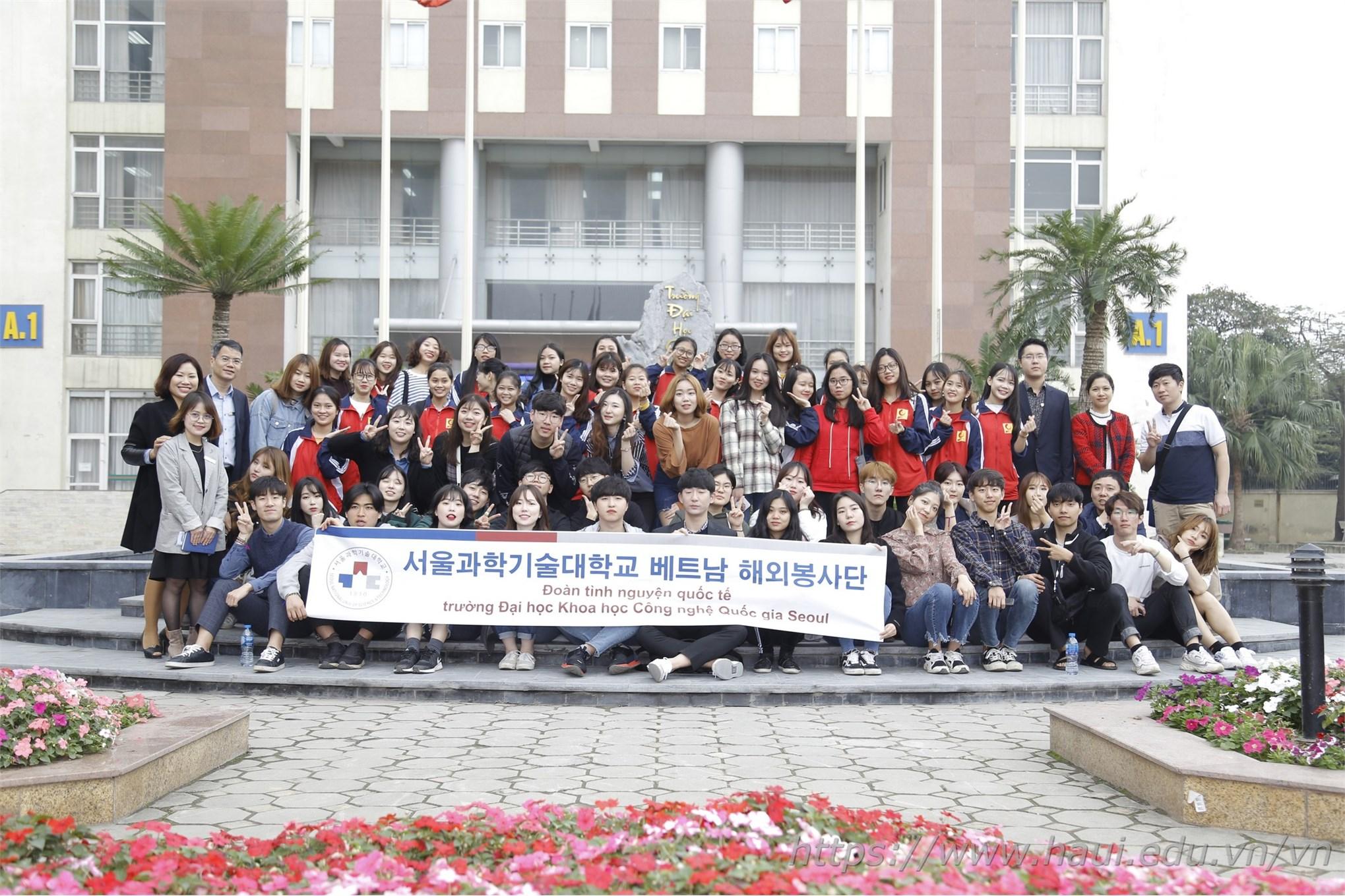 Chương trình giao lưu văn hóa với sinh viên Đại học Khoa học và Công nghệ Quốc gia Seoul - Hàn Quốc