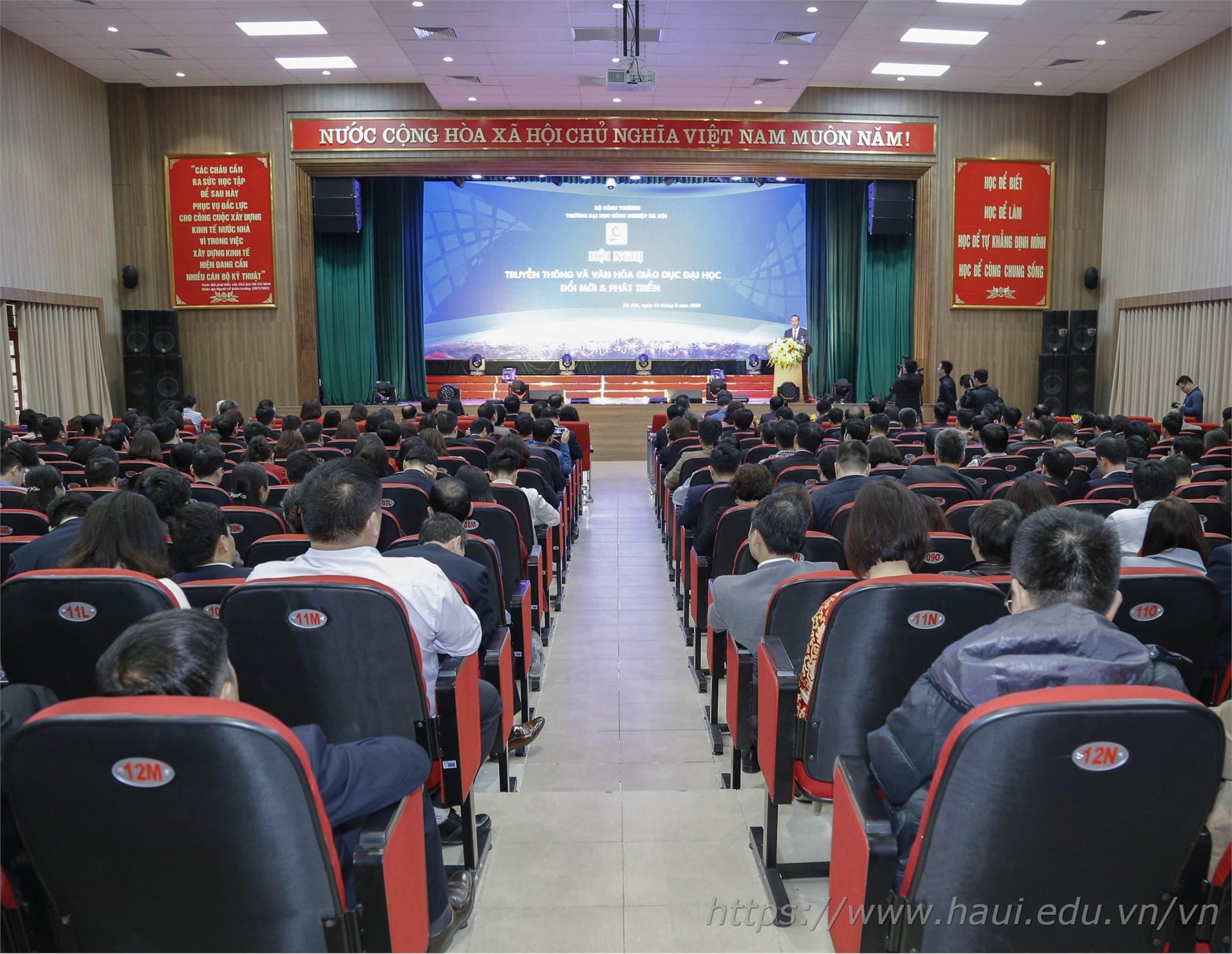 Hội nghị Truyền thông và Văn hóa giáo dục đại học - Đổi mới & Phát triển
