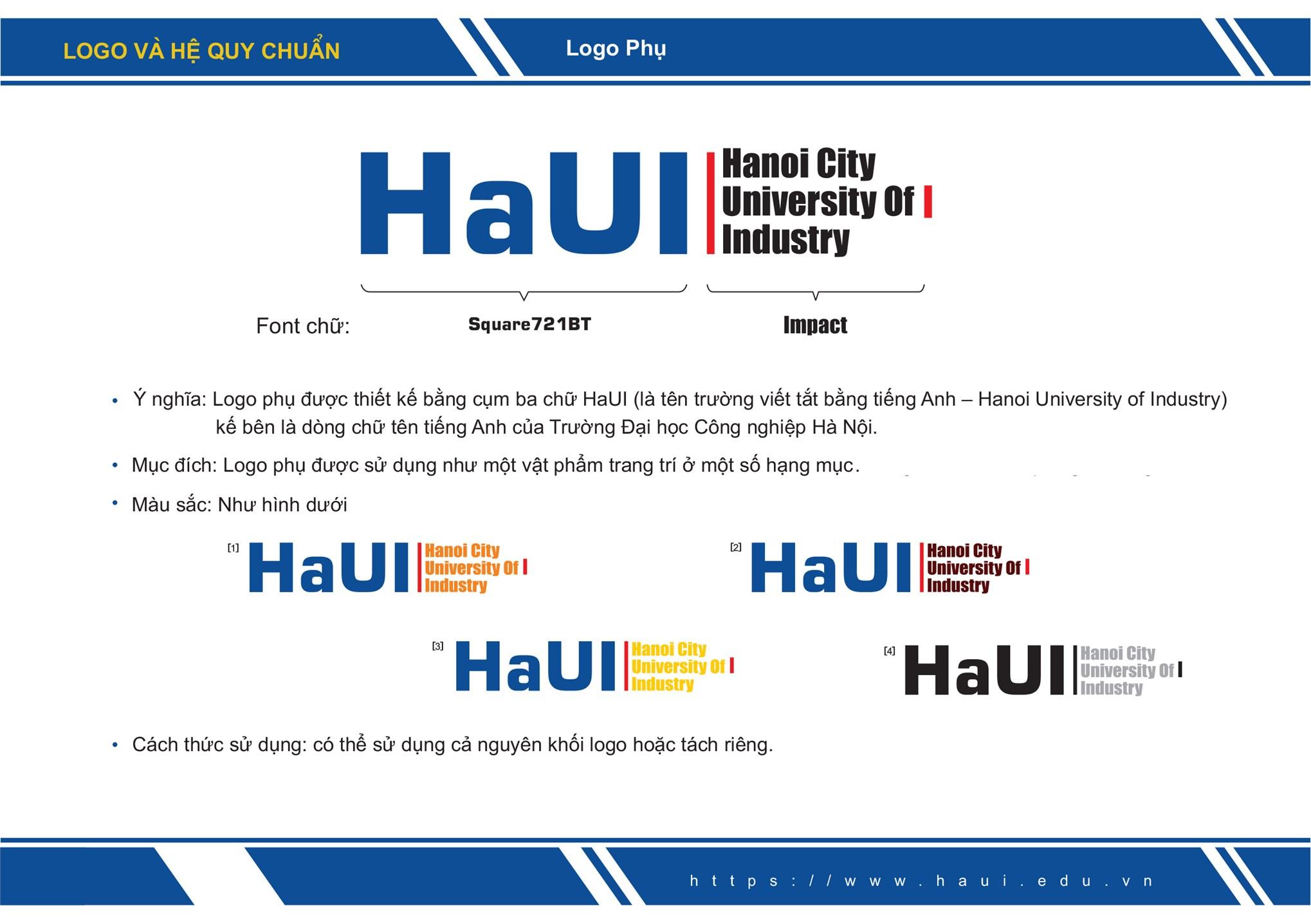 Nhận diện thương hiệu Logo HaUI