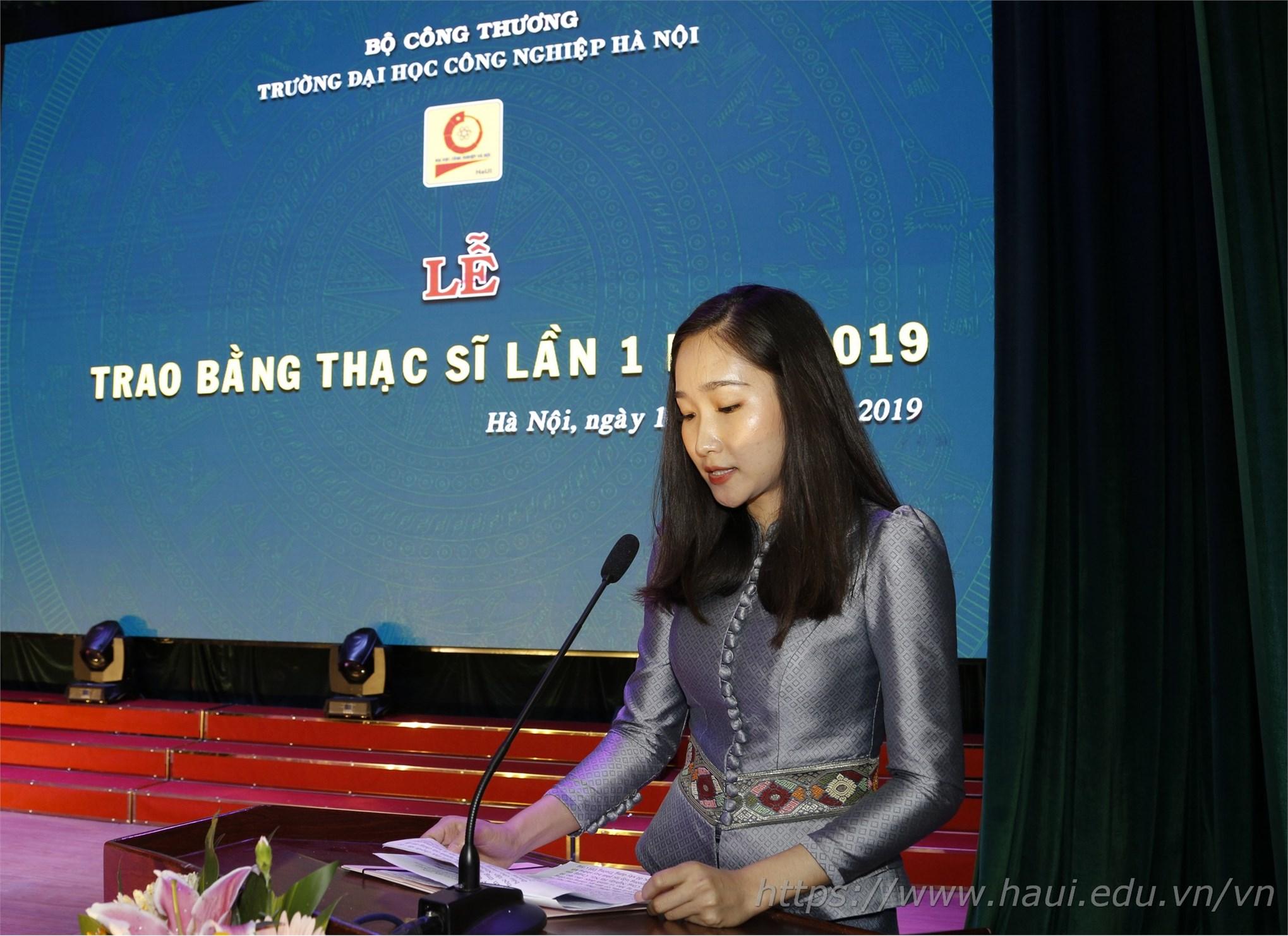 Lễ trao bằng Thạc sĩ năm 2019