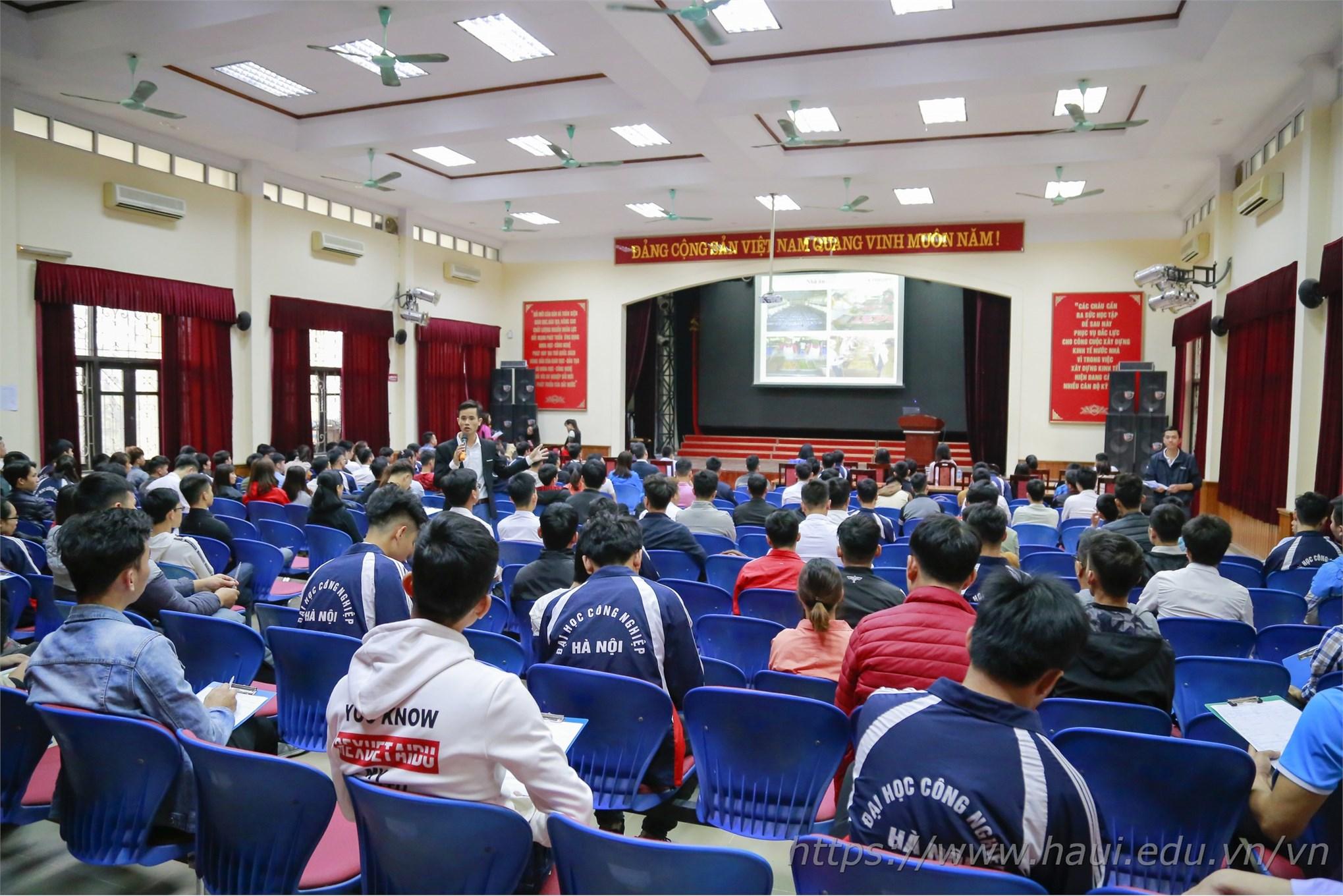 Hàng trăm cơ hội việc làm cho sinh viên HaUI tại Tập đoàn KHKT Hồng Hải