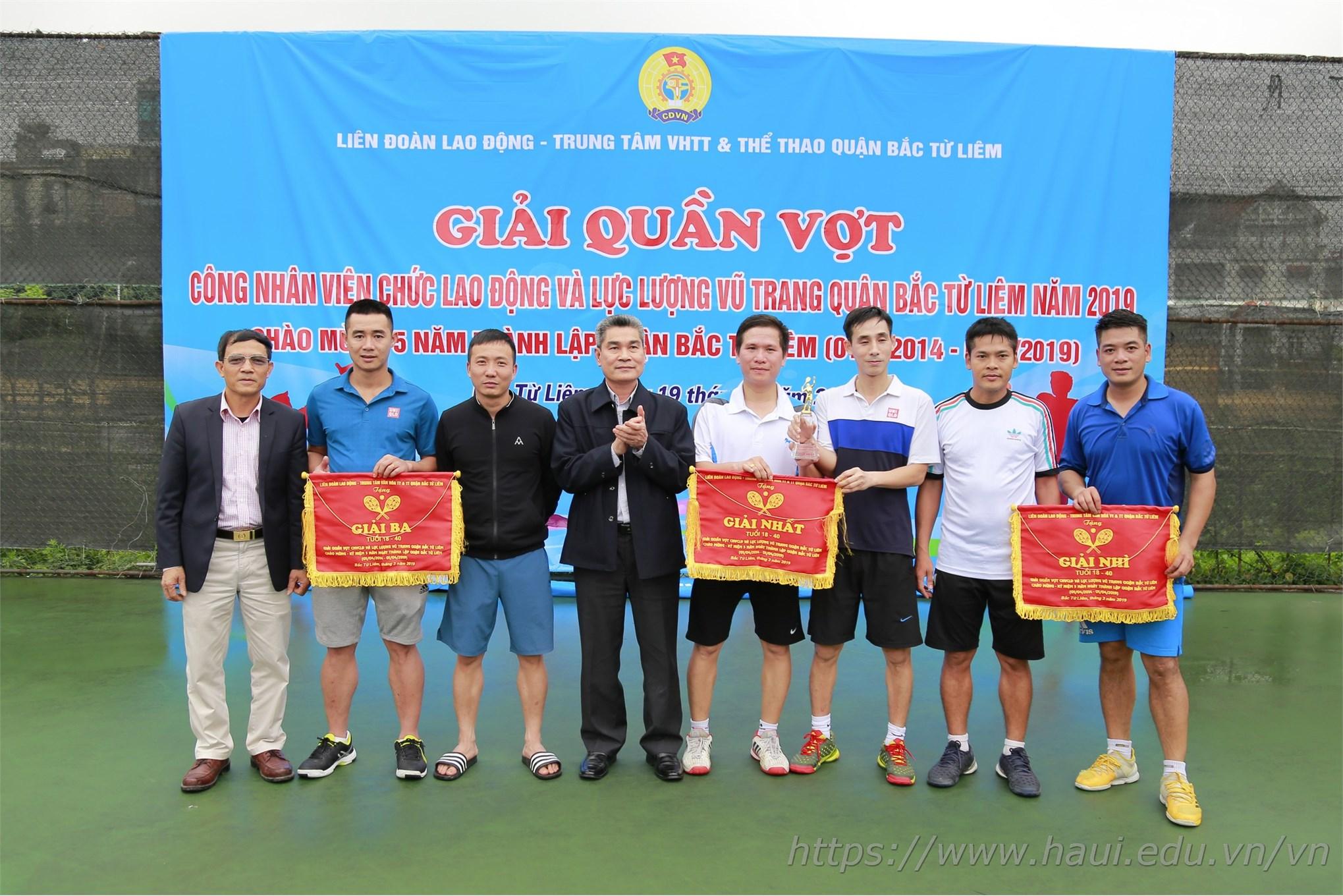 Giải quần vợt công nhân viên chức, người lao động và LLVT quận Bắc Từ Liêm năm 2019