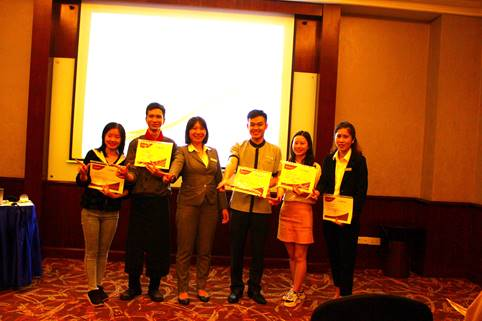 Nhận xét của doanh nghiệp về 05 sinh viên ĐH QTDL - K10 ngành Quản trị du lịch thực tập tại khách sạn Movenpick Hà Nội