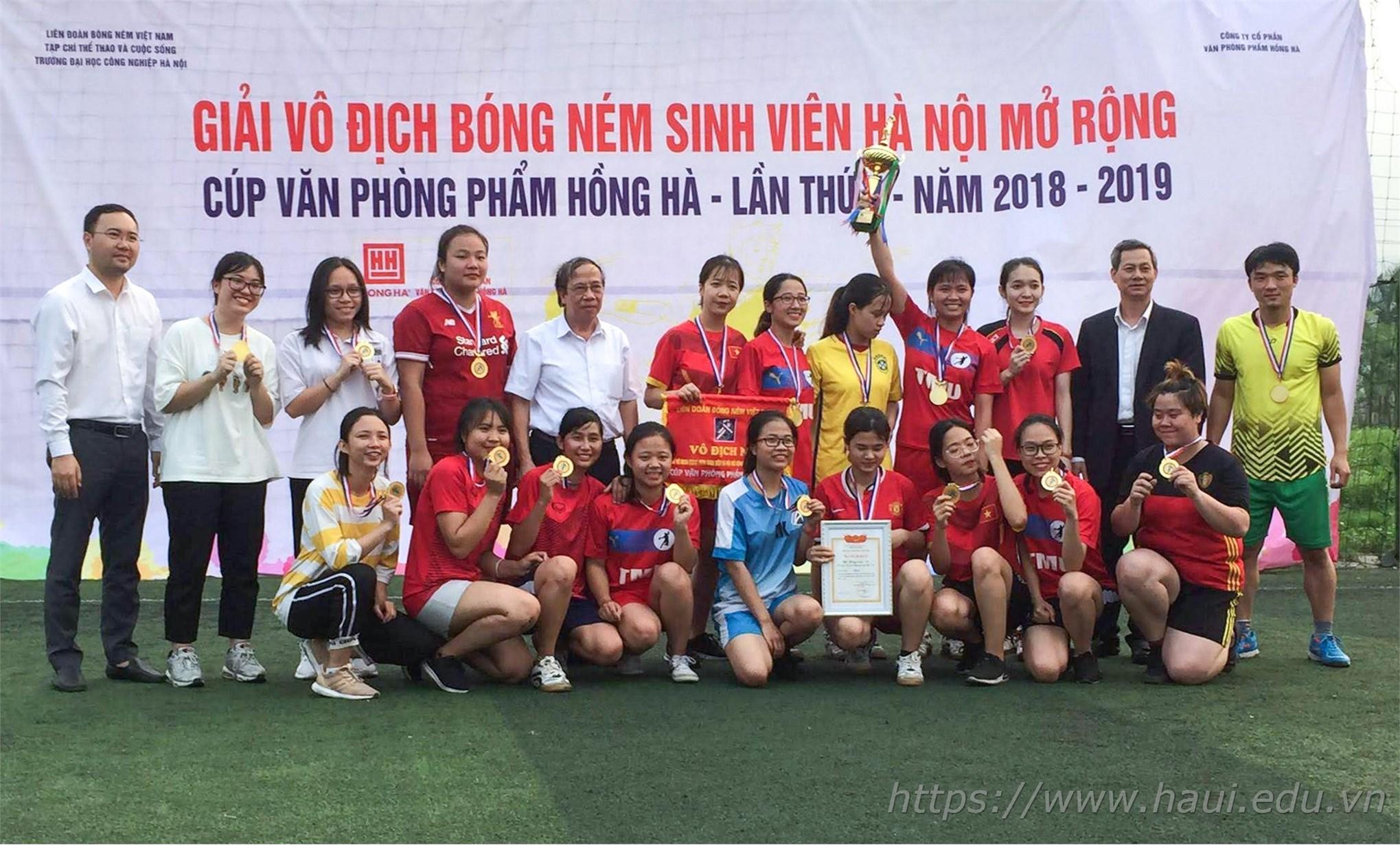 Đại học Công nghiệp Hà Nội đăng cai tổ chức Giải vô địch Bóng ném sinh viên Hà Nội mở rộng - Cúp Văn phòng phẩm Hồng Hà năm 2019
