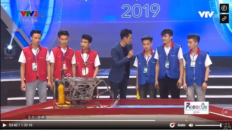 Robocon TT Việt Nhật dừng chân ở vòng 1/8 Robocon 2019
