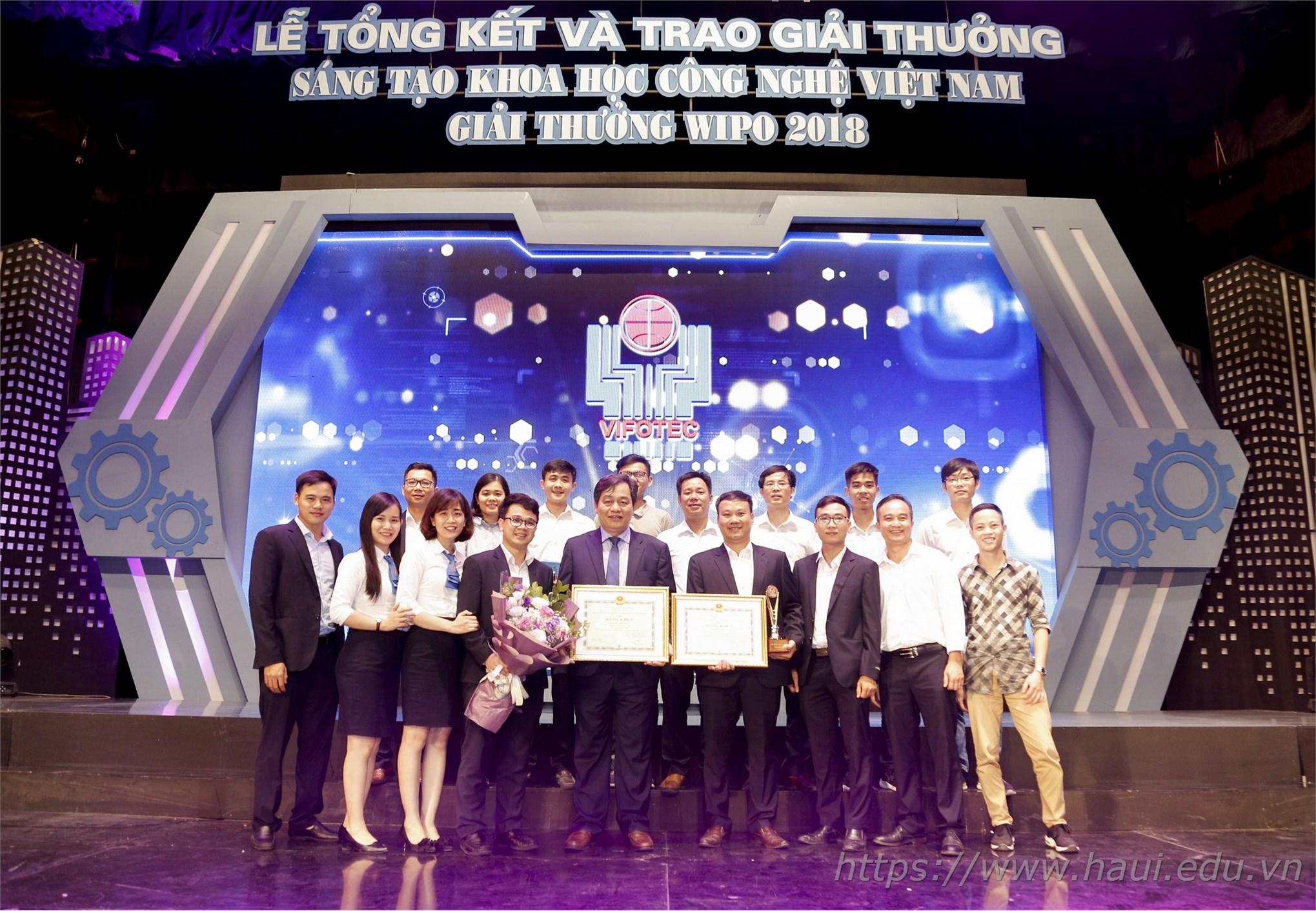 Trường Đại học Công nghiệp Hà Nội đạt giải Nhì - Giải thưởng Sáng tạo Khoa học Công nghệ Việt Nam năm 2018