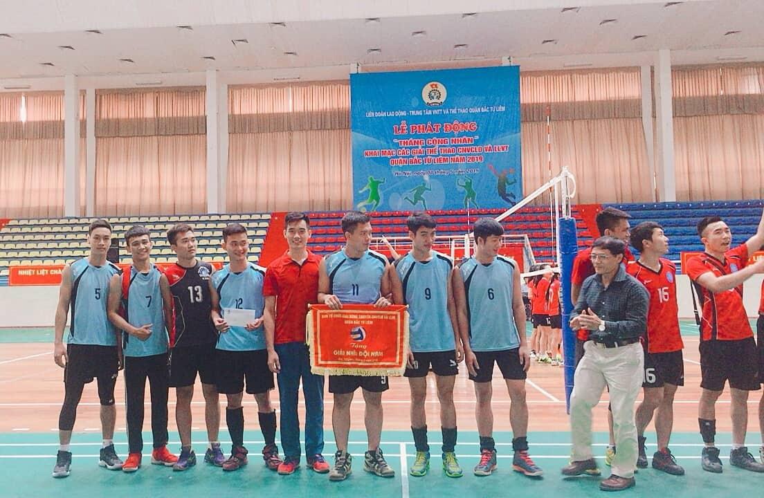 Giải bóng chuyền Công nhân viên chức lao động và lực lượng vũ trang quận Bắc Từ Liêm năm 2019