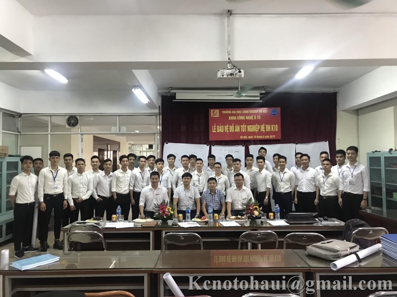 Lễ bảo vệ Đồ án tốt nghiệp hệ ĐH K10 ngành công nghệ kỹ thuật ô tô