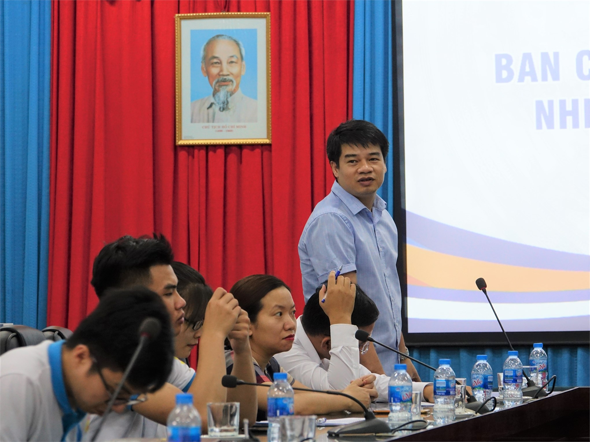 Đ/c Trần Ngọc Khánh - Đảng ủy viên phát biểu chỉ đạo Hội nghị