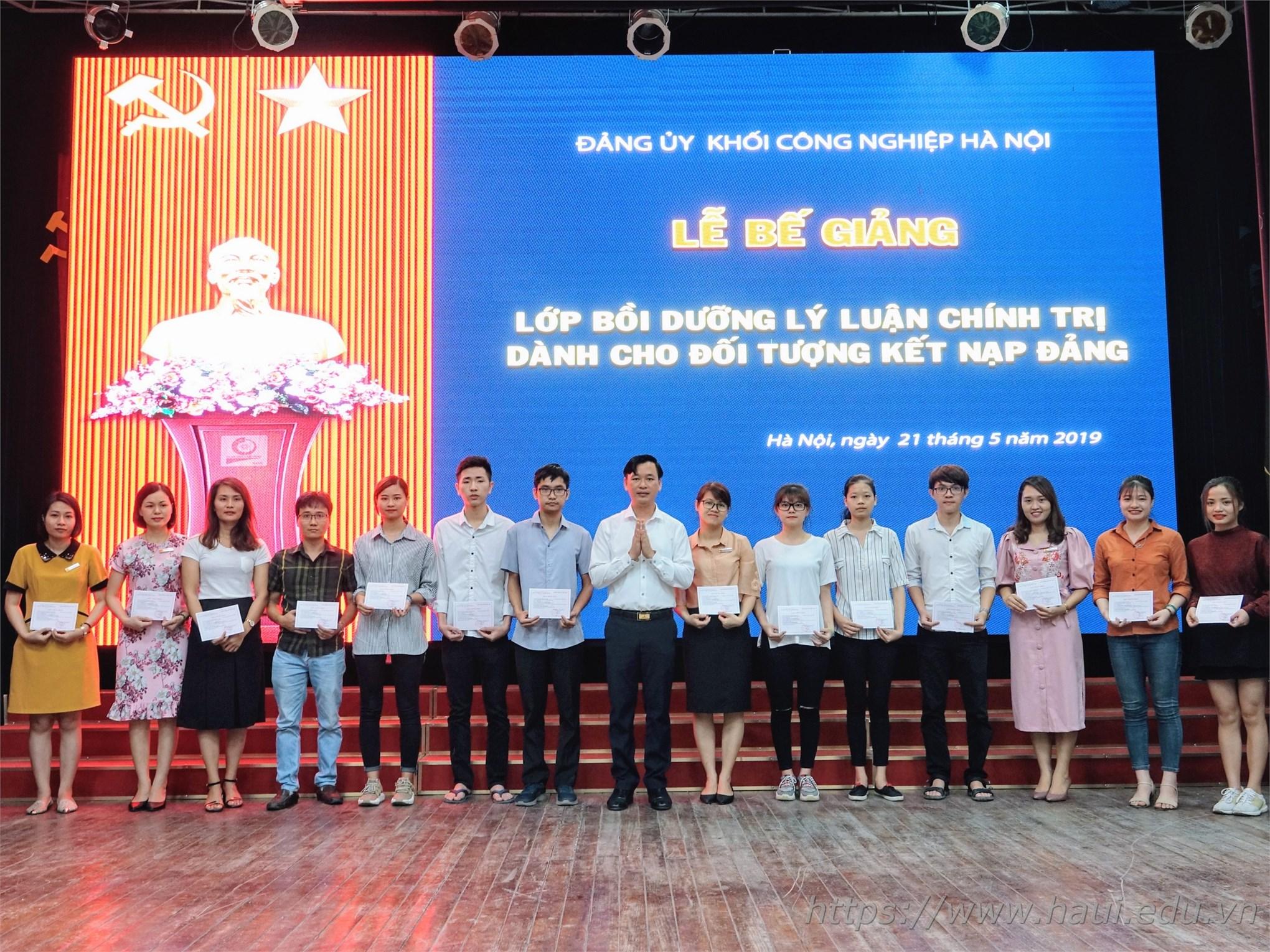 142 học viên hoàn thành khóa đào tạo bồi dưỡng kết nạp đảng năm 2019