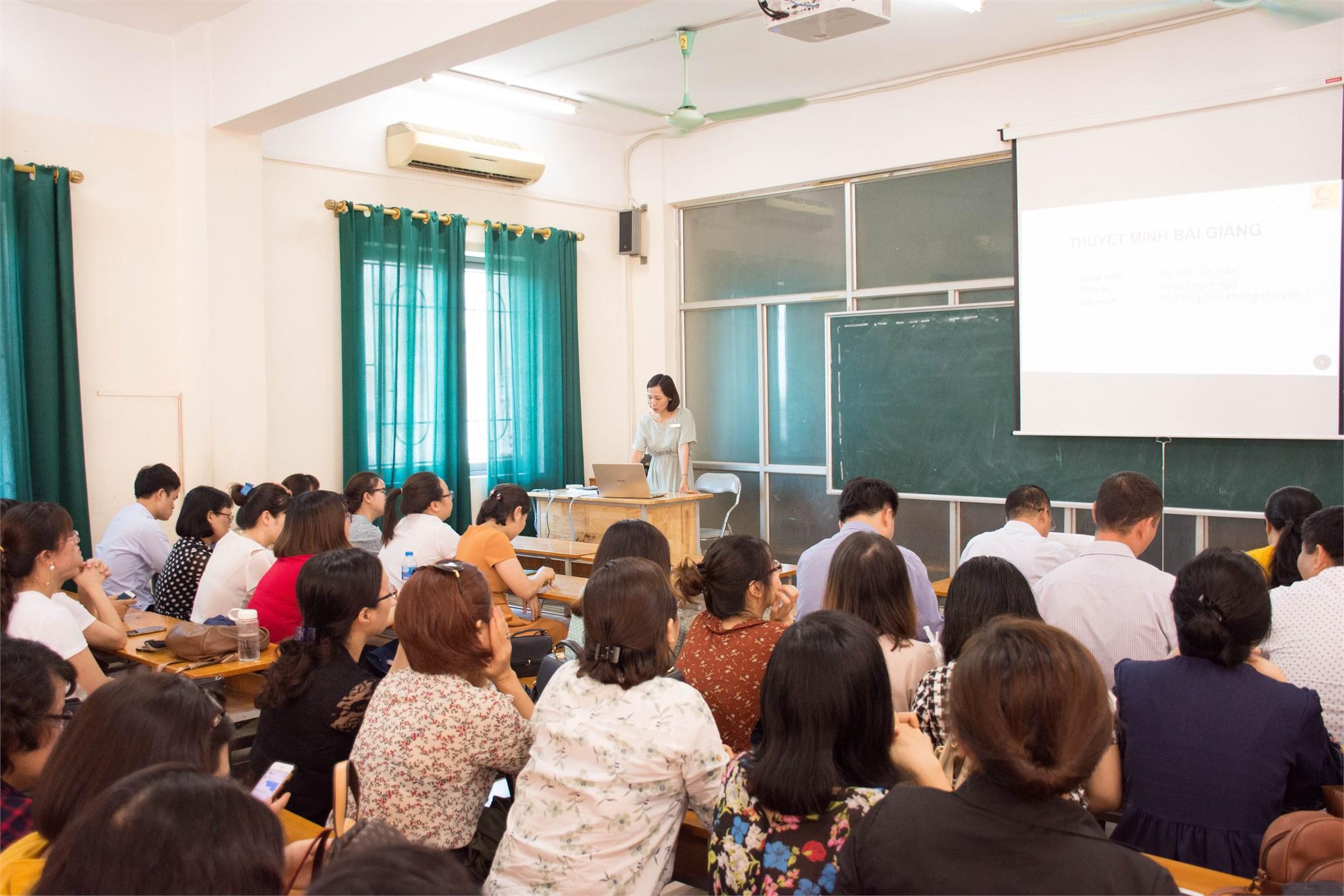 Hội thi giảng viên giỏi nghiệp vụ sư phạm cấp Trường 2019
