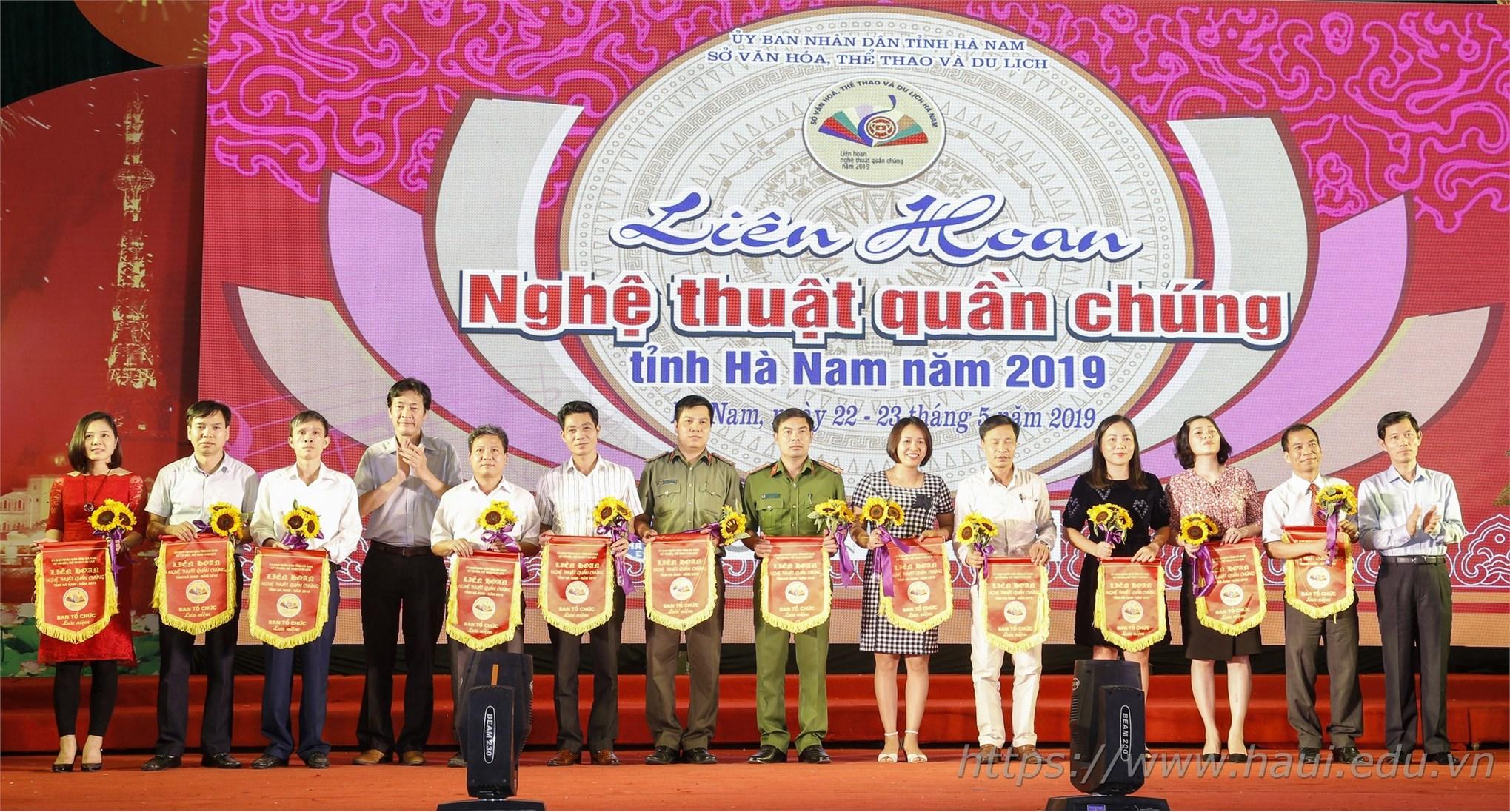 Đại học Công nghiệp Hà Nội tham gia Liên hoan Nghệ thuật Quần chúng tỉnh Hà Nam năm 2019