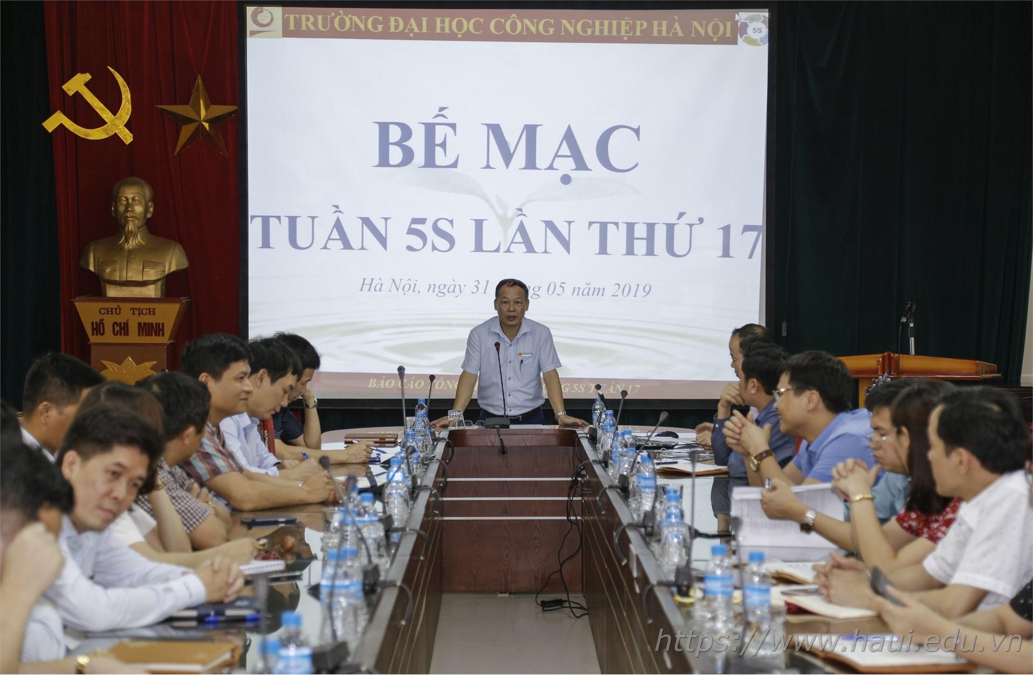 TS. Nguyễn Anh Tuấn - Phó Hiệu trưởng, Trưởng ban 5S Nhà trường chủ trì Bế mạc Tuần 5S lần thứ 17