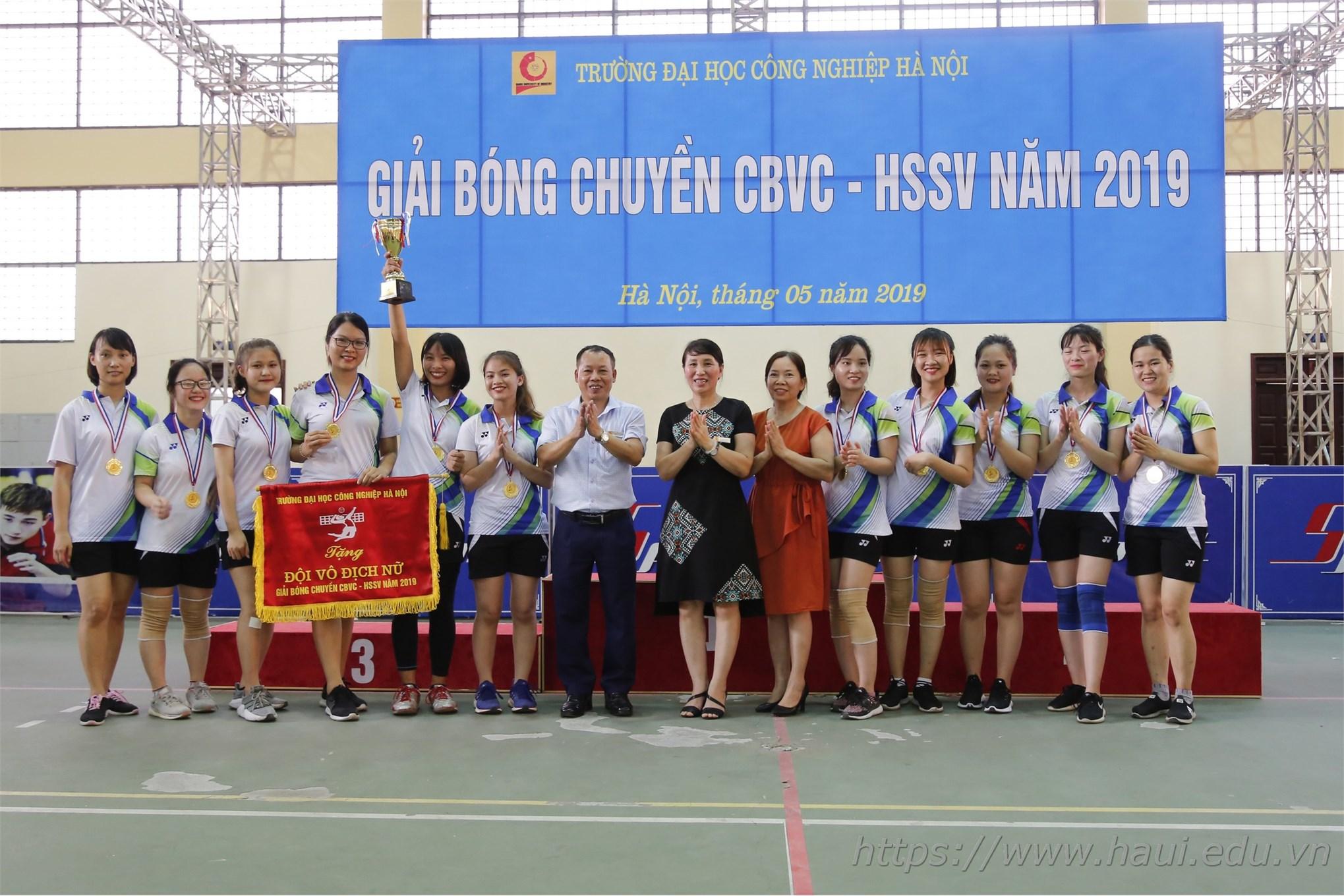 Giải bóng chuyền CBVC-HSSV Đại học Công nghiệp Hà Nội 2019