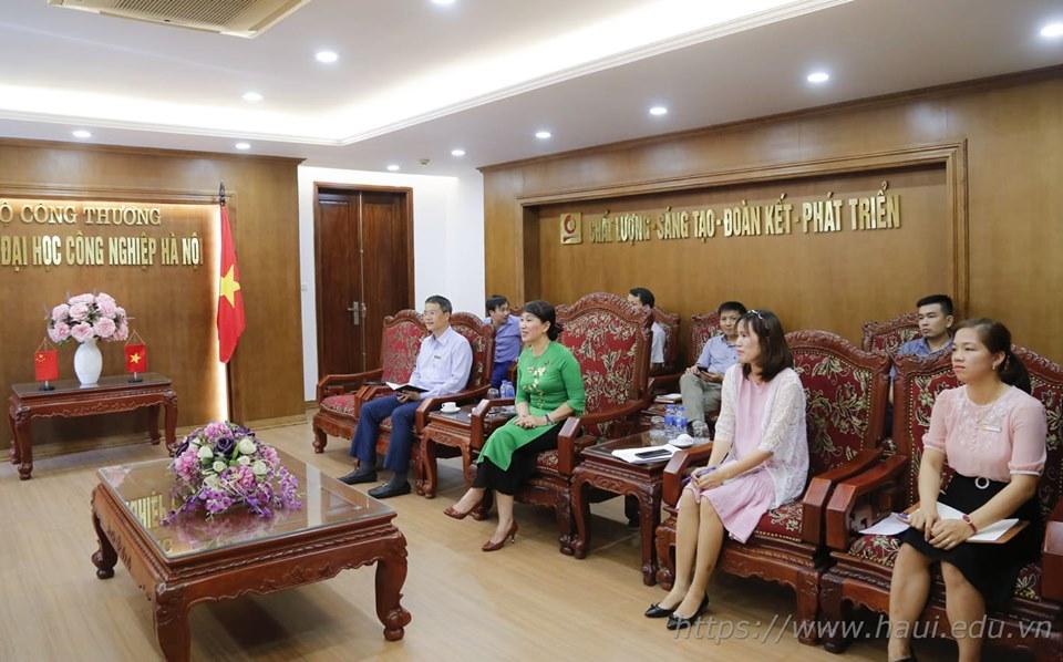 Trường Đại học Hồ Nam, Trung Quốc tới thăm và làm việc với Trường Đại học Công nghiệp Hà Nội