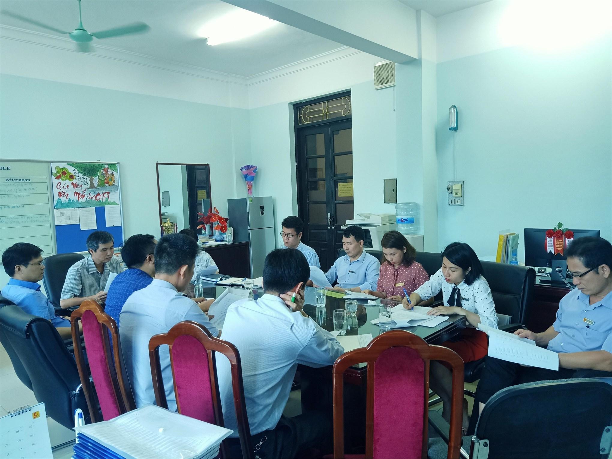 Trung tâm Việt Nhật tiếp đoàn Thanh tra thường niên của Nhà trường về các mặt hoạt động đào tạo