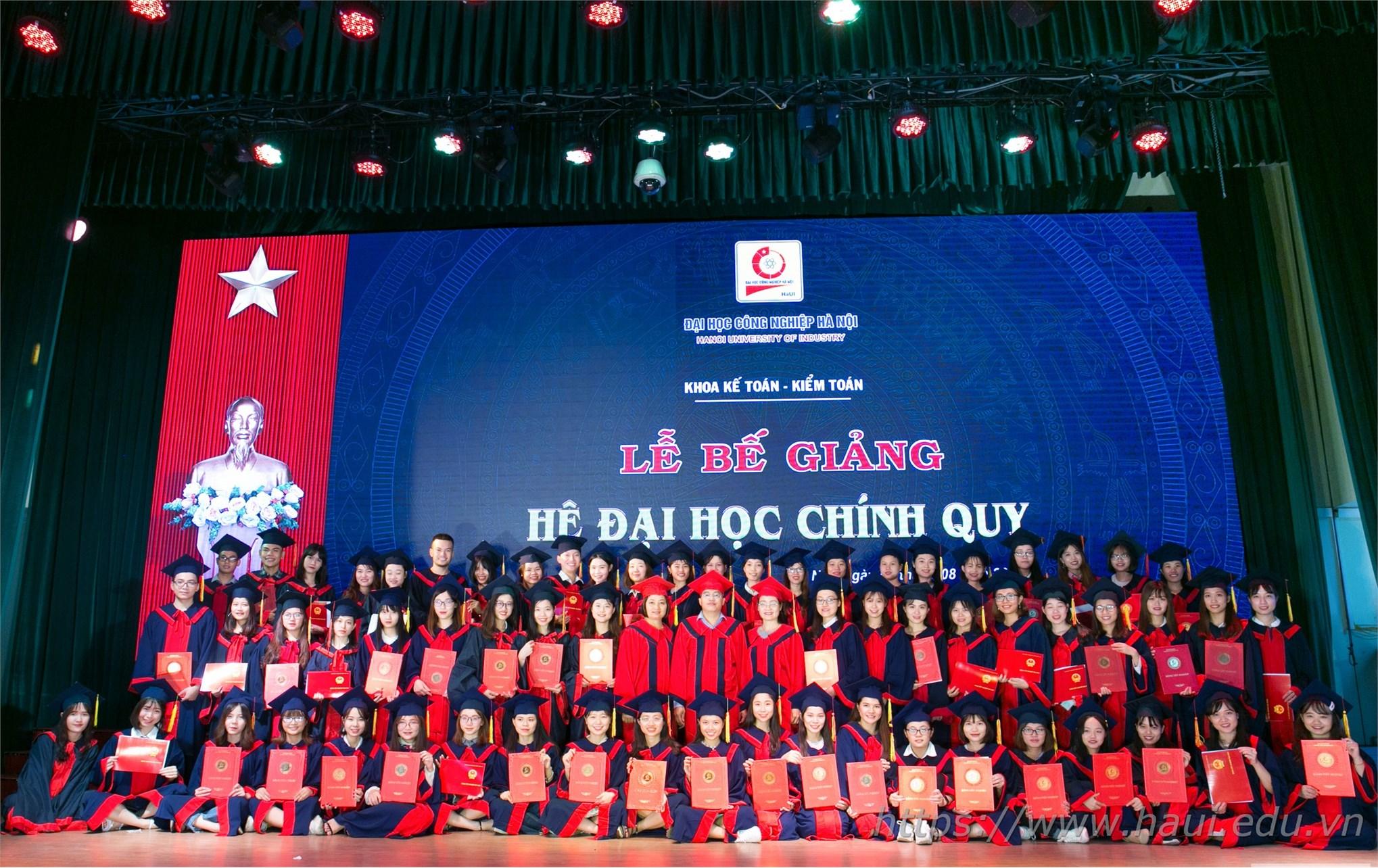 Lễ Bế giảng và trao bằng tốt nghiệp cử nhân cho sinh viên Đại học Công nghiệp Hà Nội năm 2019