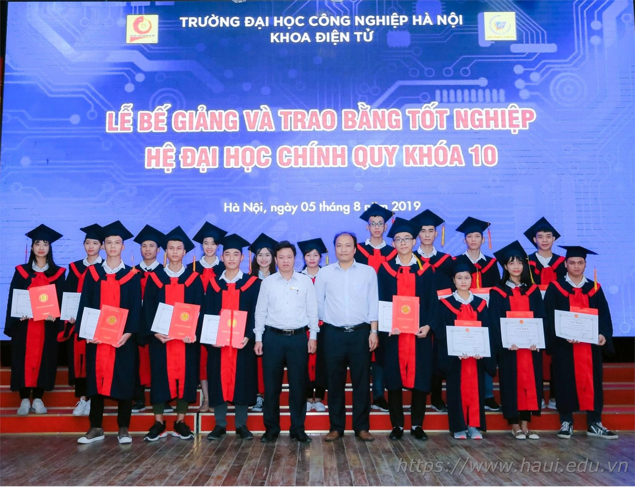 Lễ Bế giảng và trao bằng tốt nghiệp cử nhân trường Đại học Công nghiệp Hà Nội