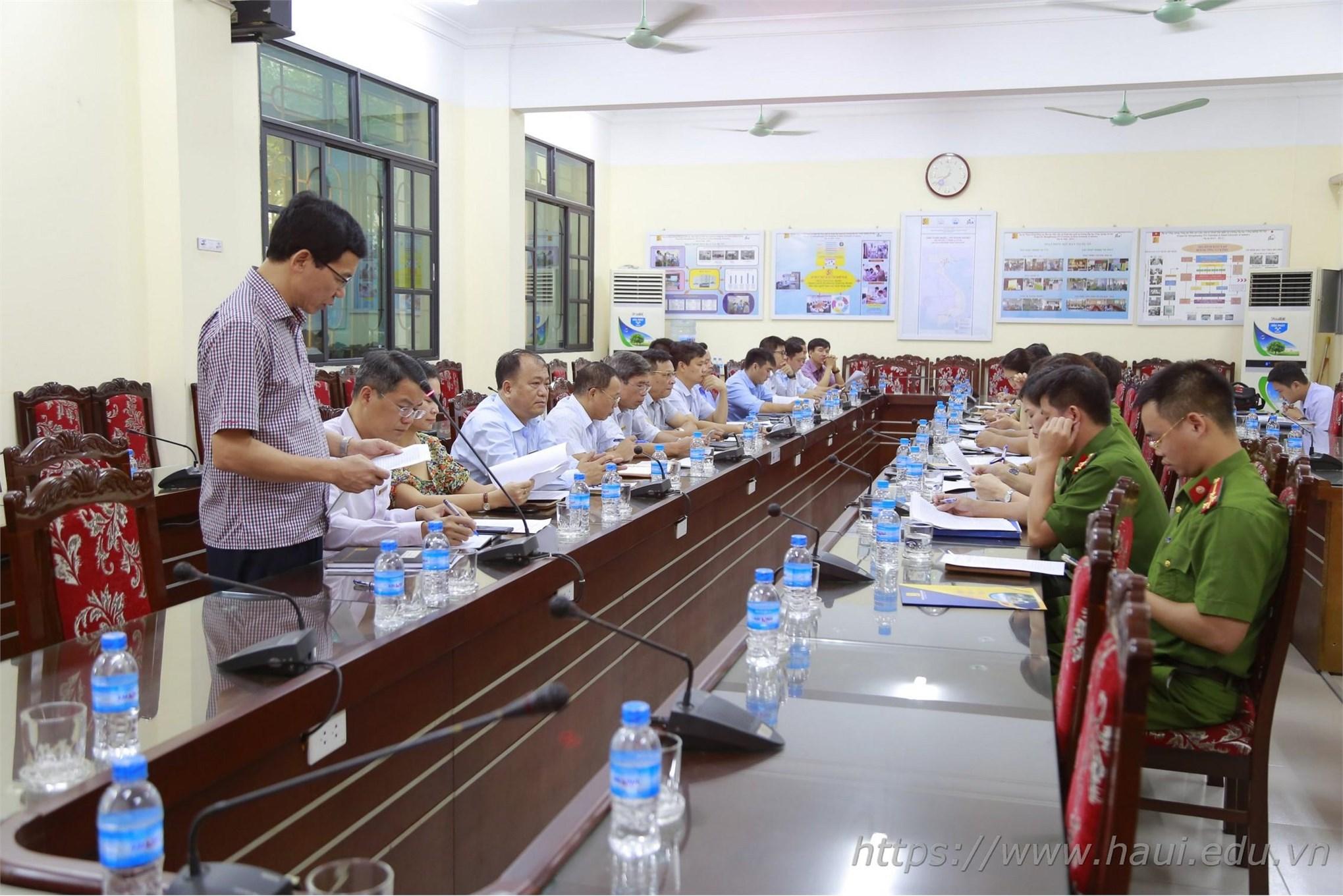 Hội nghị tổng kết công tác đảm bảo ANTT năm học 2018 - 2019, triển khai kế hoạch đảm bảo ANTT năm học 2019 - 2020