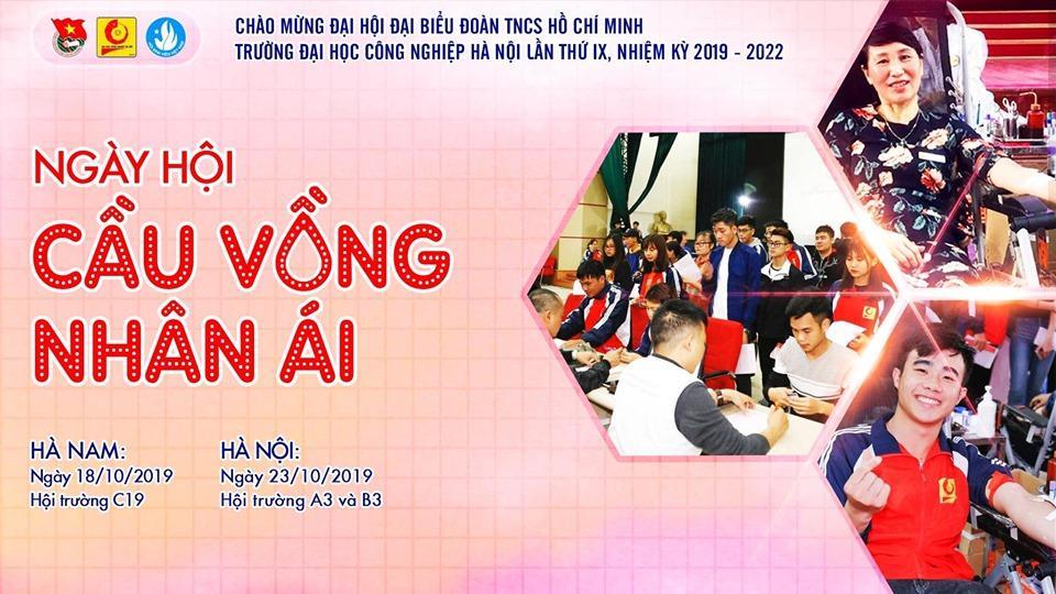 Ngày hội Hiến máu Đại học Công nghiệp Hà Nội