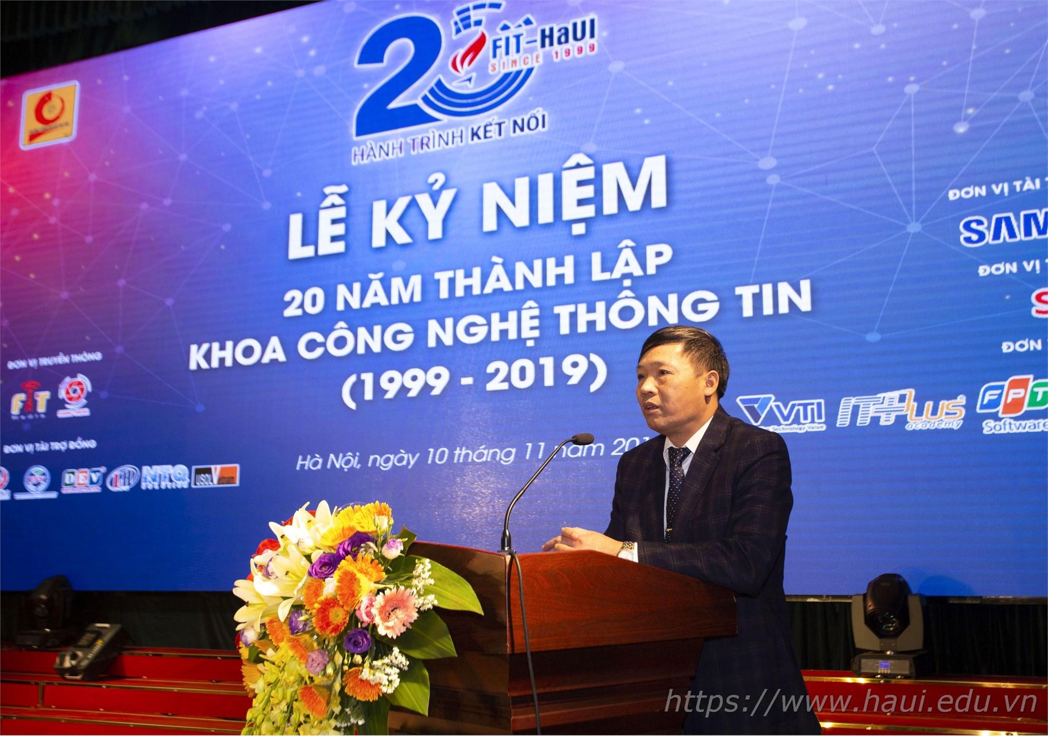Lễ kỷ niệm 20 năm thành lập khoa Công nghệ Thông tin ĐHCNHN