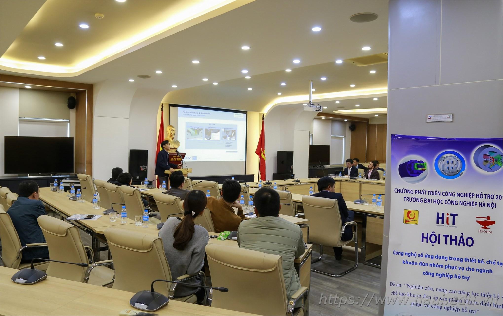 """Hội thảo """"Công nghệ số ứng dụng trong thiết kế, chế tạo khuôn đùn nhôm phục vụ cho ngành công nghiệp hỗ trợ"""""""