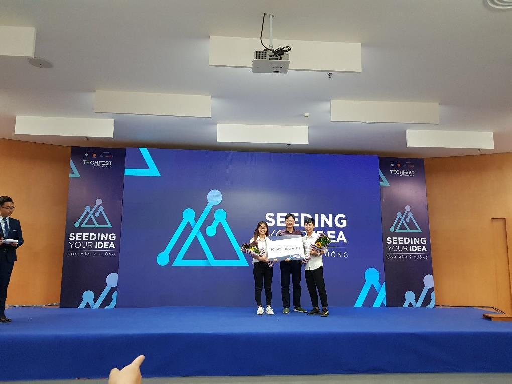 Sinh viên Đại học Công nghiệp Hà Nội xuất sắc đạt giải 01 giải Nhì, 02 giải Ba cuộc thi Seeding your idea
