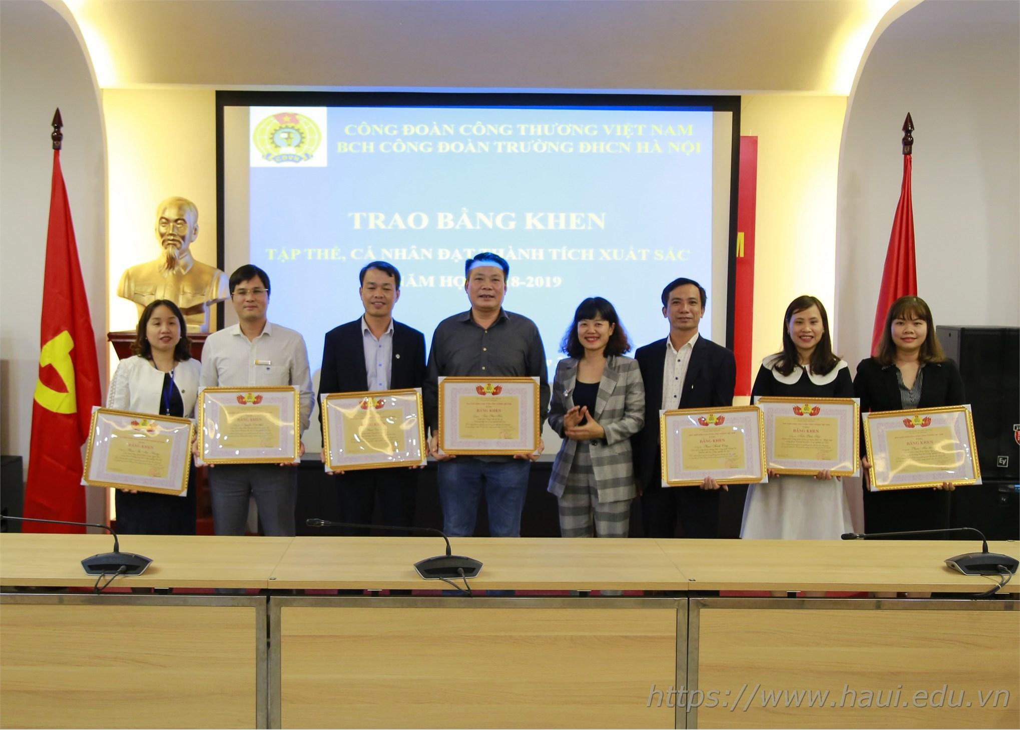 Công đoàn Đại học Công nghiệp Hà Nội Hội nghị tổng kết năm học 2018 - 2019