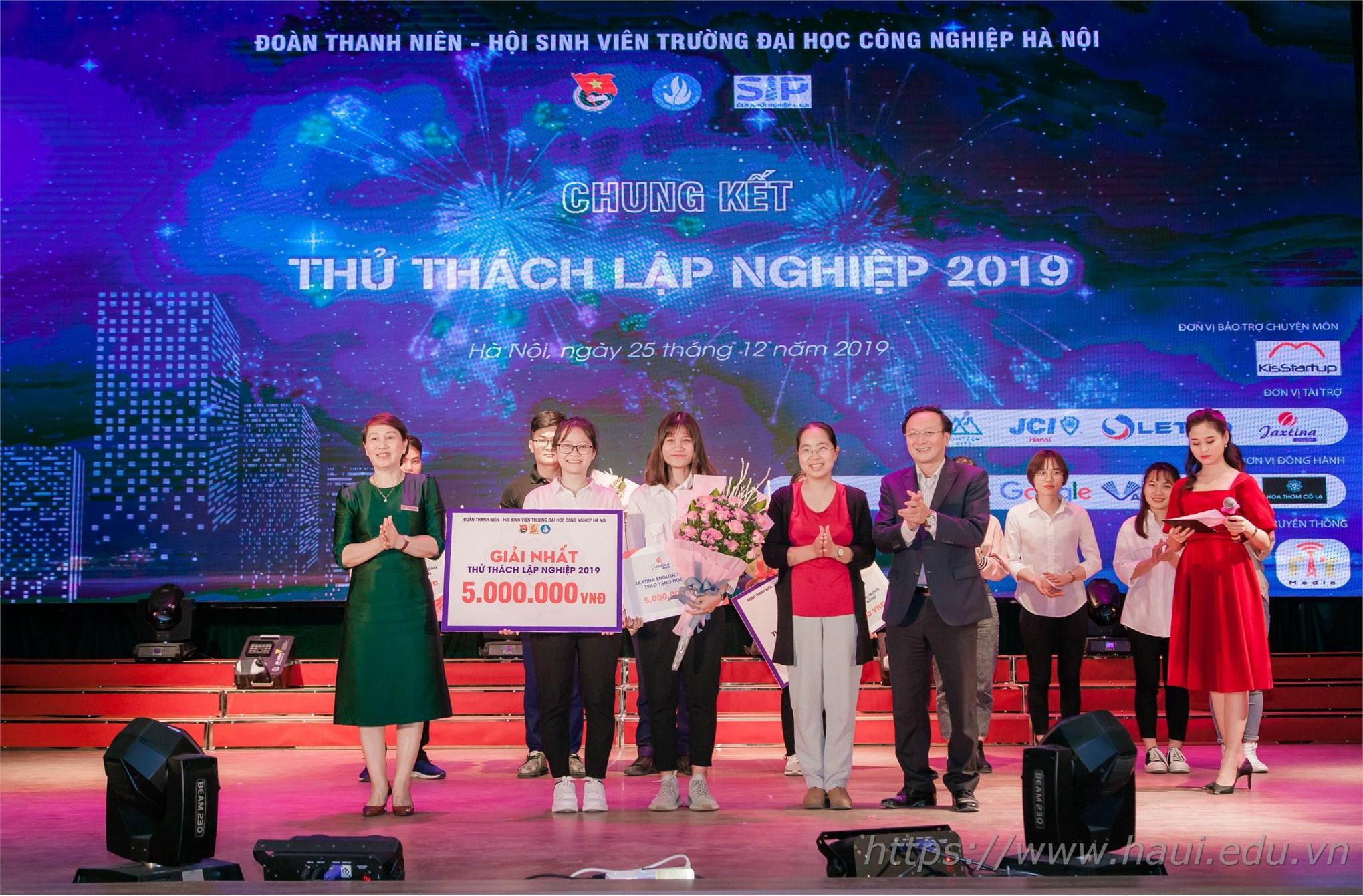 Sinh viên Đại học Công nghiệp Hà Nội tranh tài tại Chung kết cuộc thi Thử thách lập nghiệp năm 2019