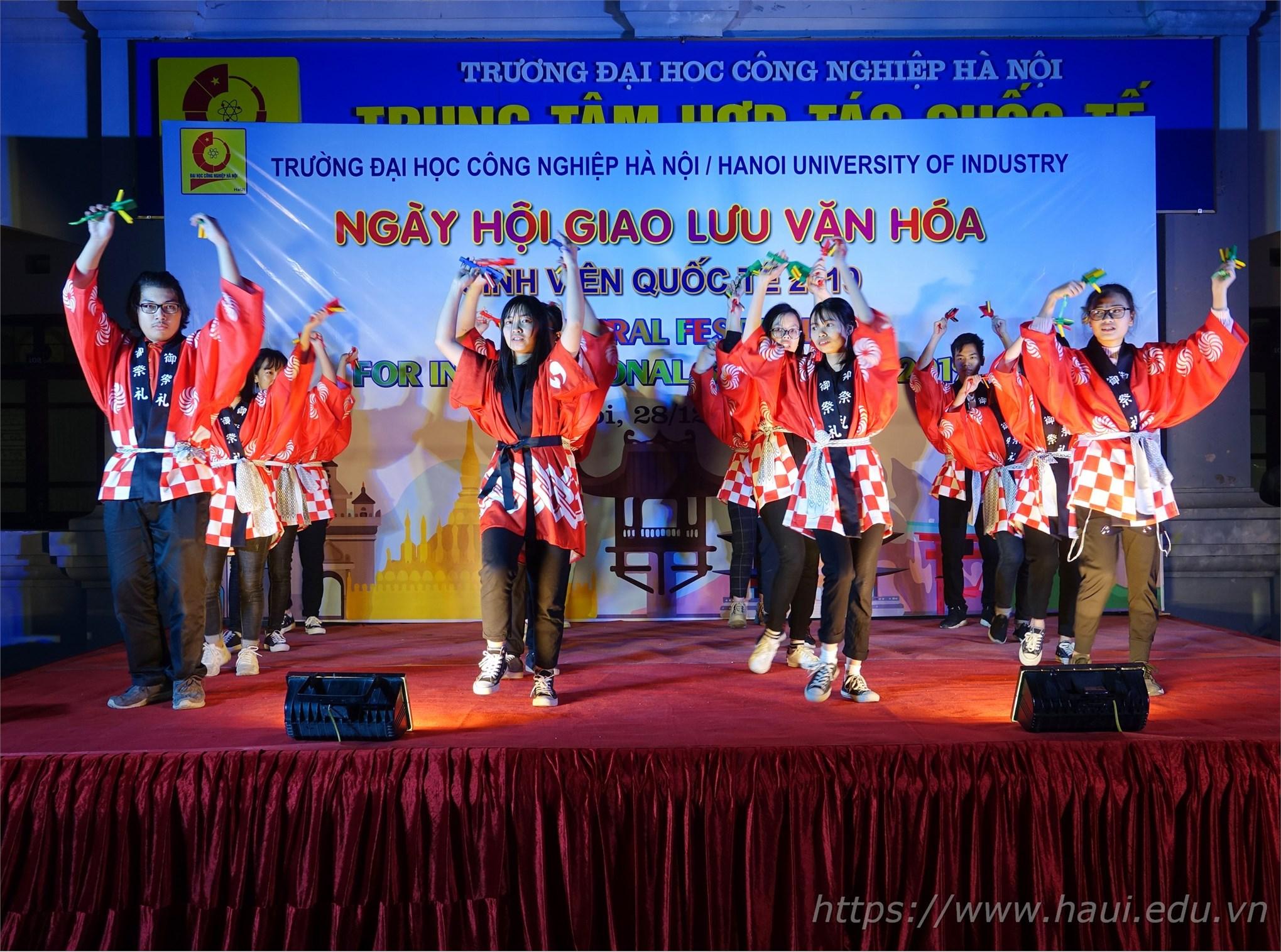 Ấn tượng tại Ngày hội giao lưu văn hóa sinh viên quốc tế 2019 tại Đại học Công nghiệp Hà Nội