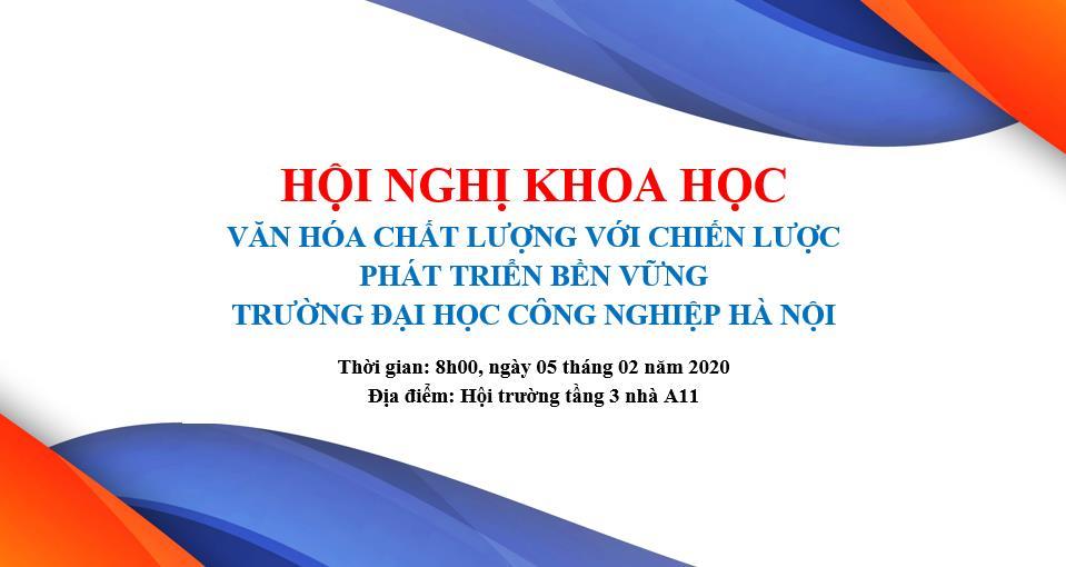 Hội nghị khoa học trường Đại học Công nghiệp Hà Nội