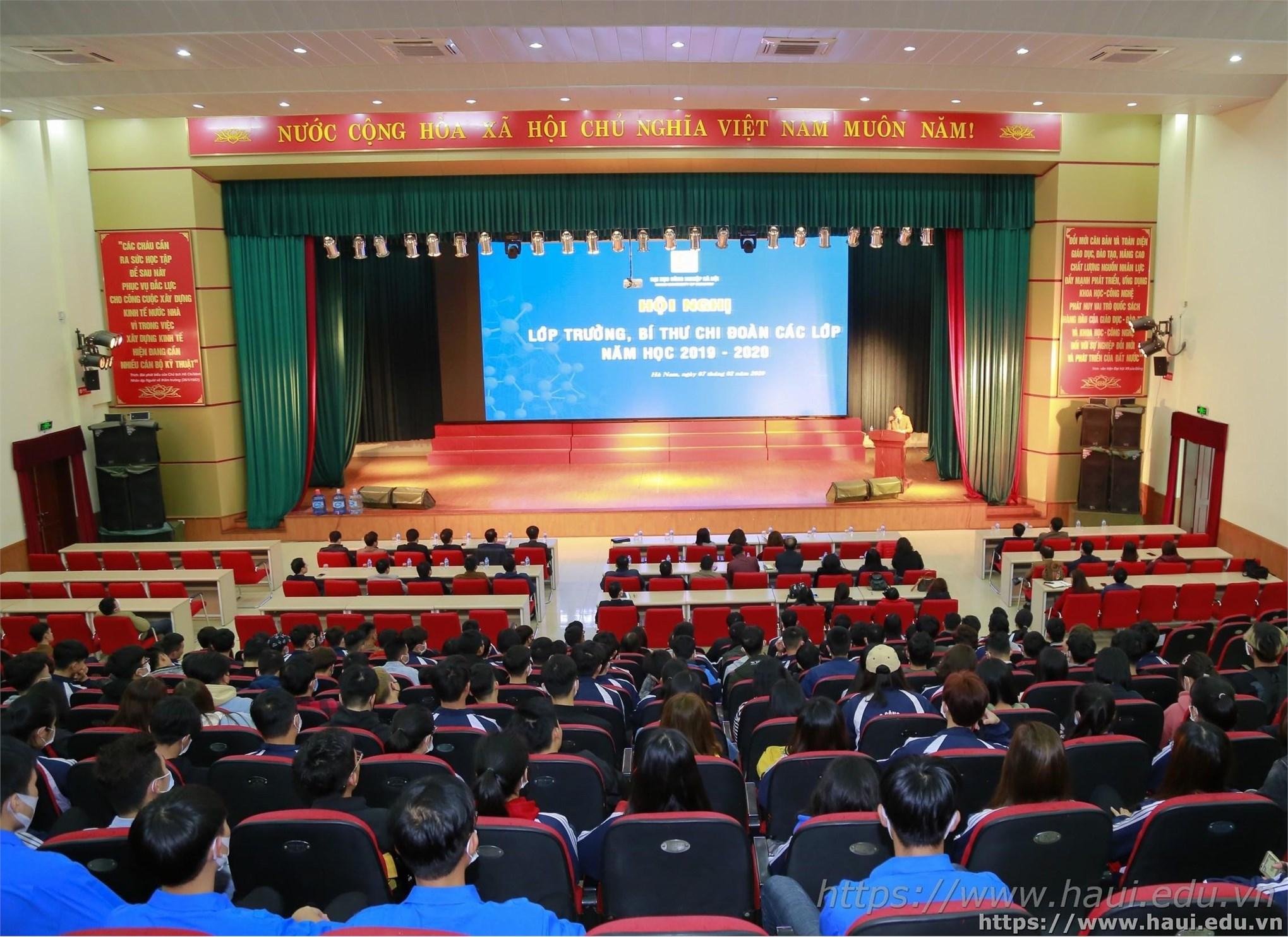 Hội nghị lớp trưởng, bí thư chi đoàn các lớp năm học 2019 – 2020 tại cơ sở Hà Nam
