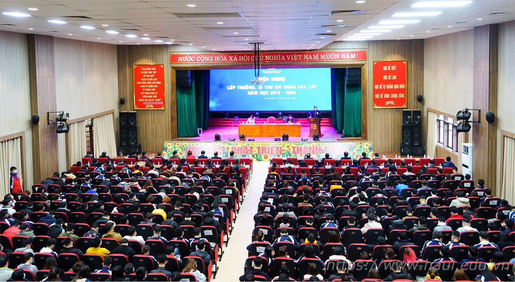 Hội nghị Bí thư Lớp trưởng 2020 đại học công nghiệp Hà Nội