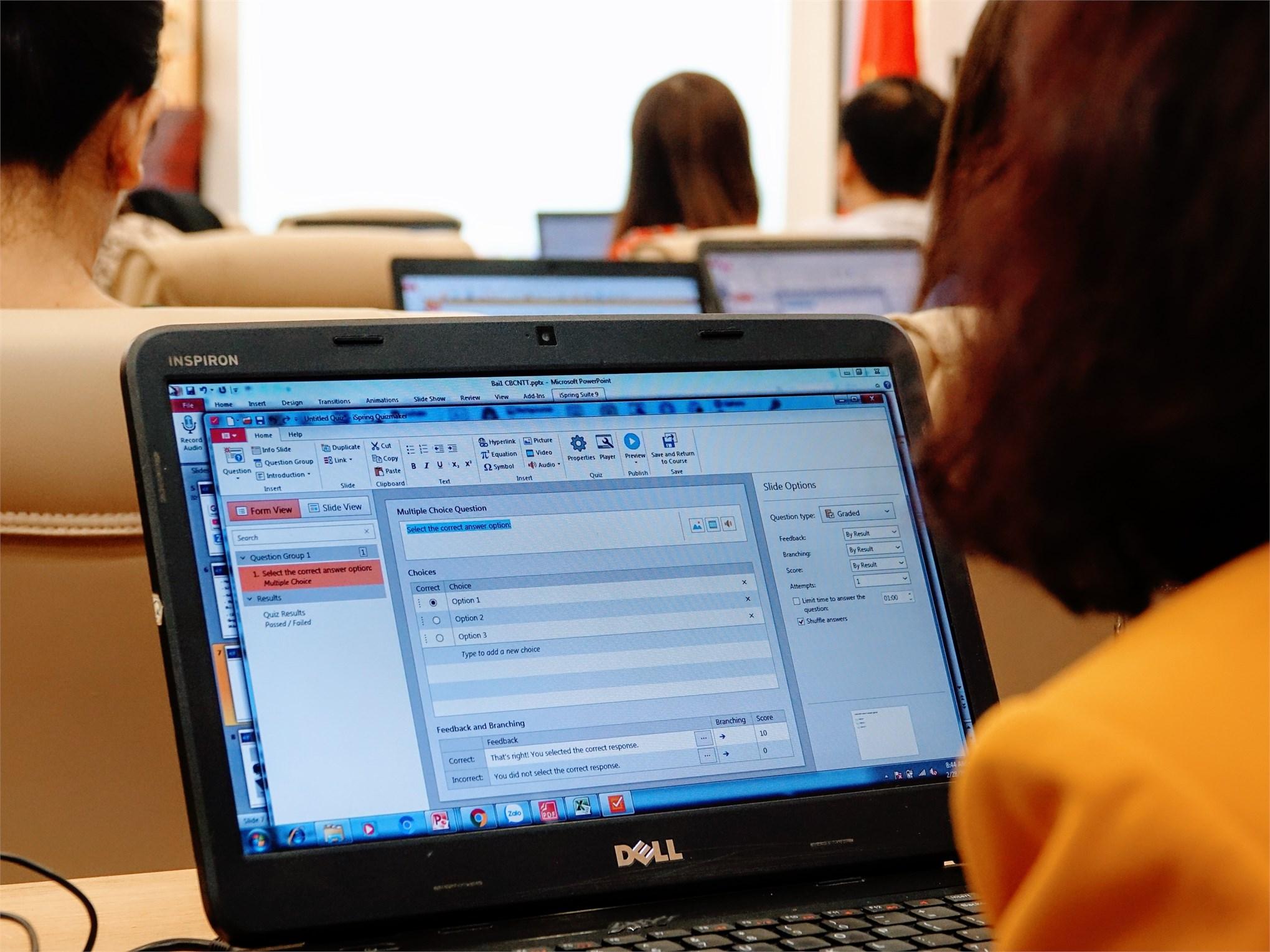 Đại học Công nghiệp Hà Nội tổ chức tập huấn xây dựng bài giảng điện tử