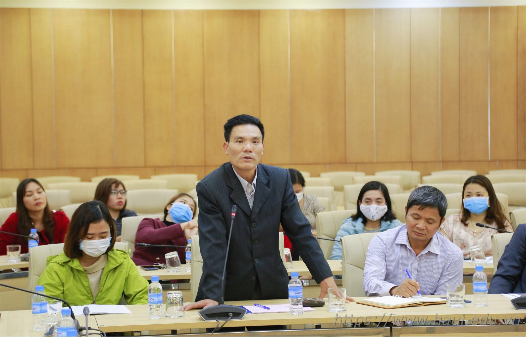 Đại học Công nghiệp Hà Nội tập huấn về công tác phòng, chống dịch bệnh COVID-19 cho cán bộ, giảng viên và nhân viên Nhà trường
