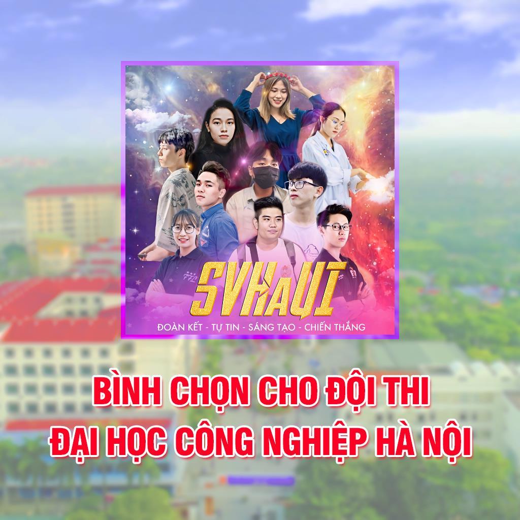 Sinh viên Đại học Công nghiệp Hà Nội chào đón SV2020