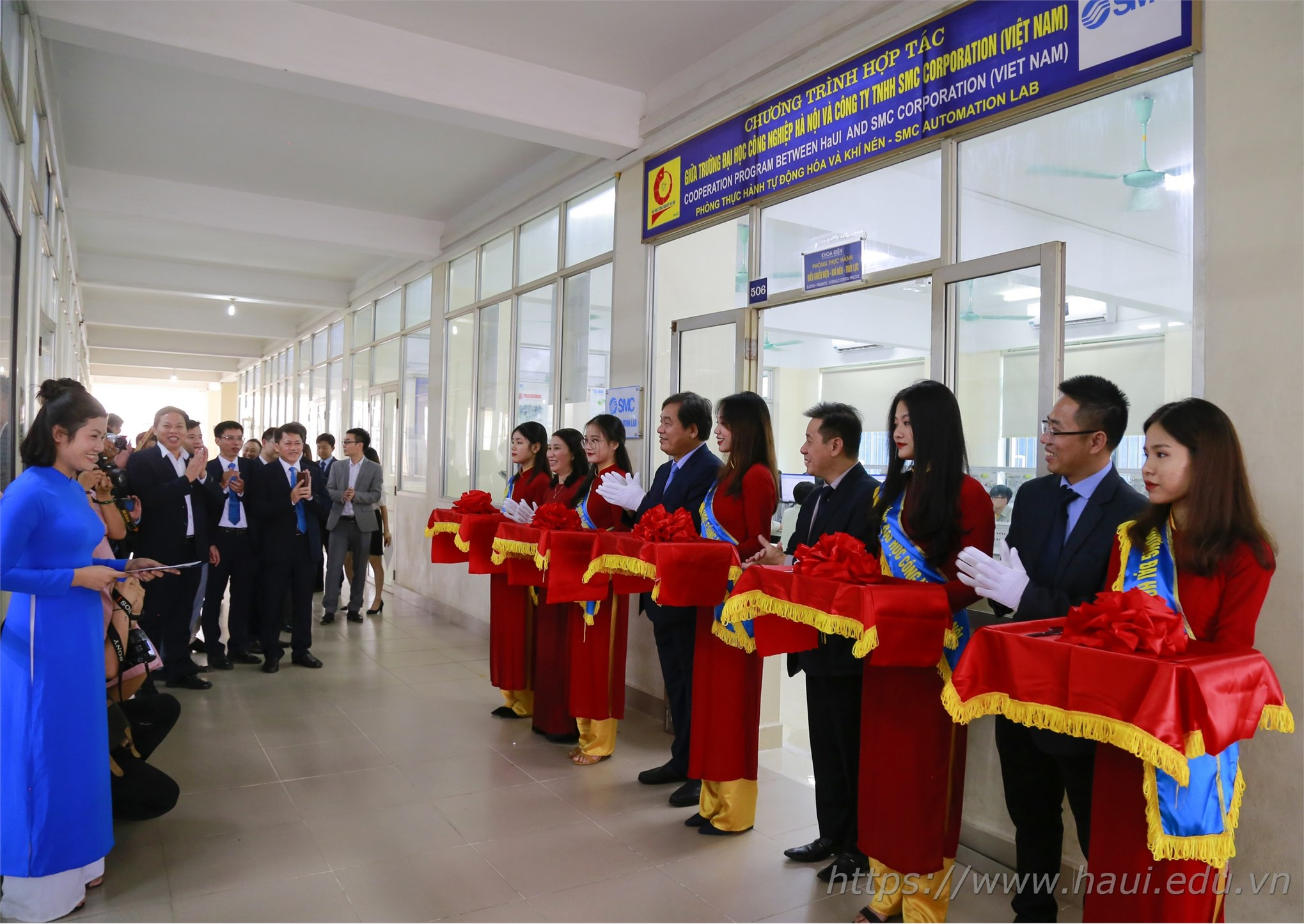 Hanoi University of Industry launch a new SMC Automation Lab worth 2 billion VND