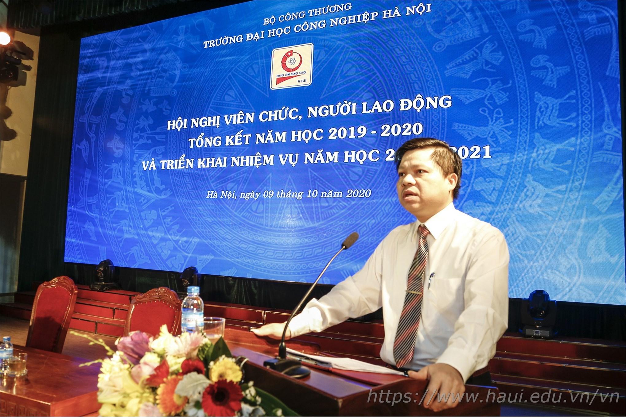 Hội nghị viên chức, tổng kết năm học 2019 - 2020 và triển khai nhiệm vụ năm học 2020 - 2021