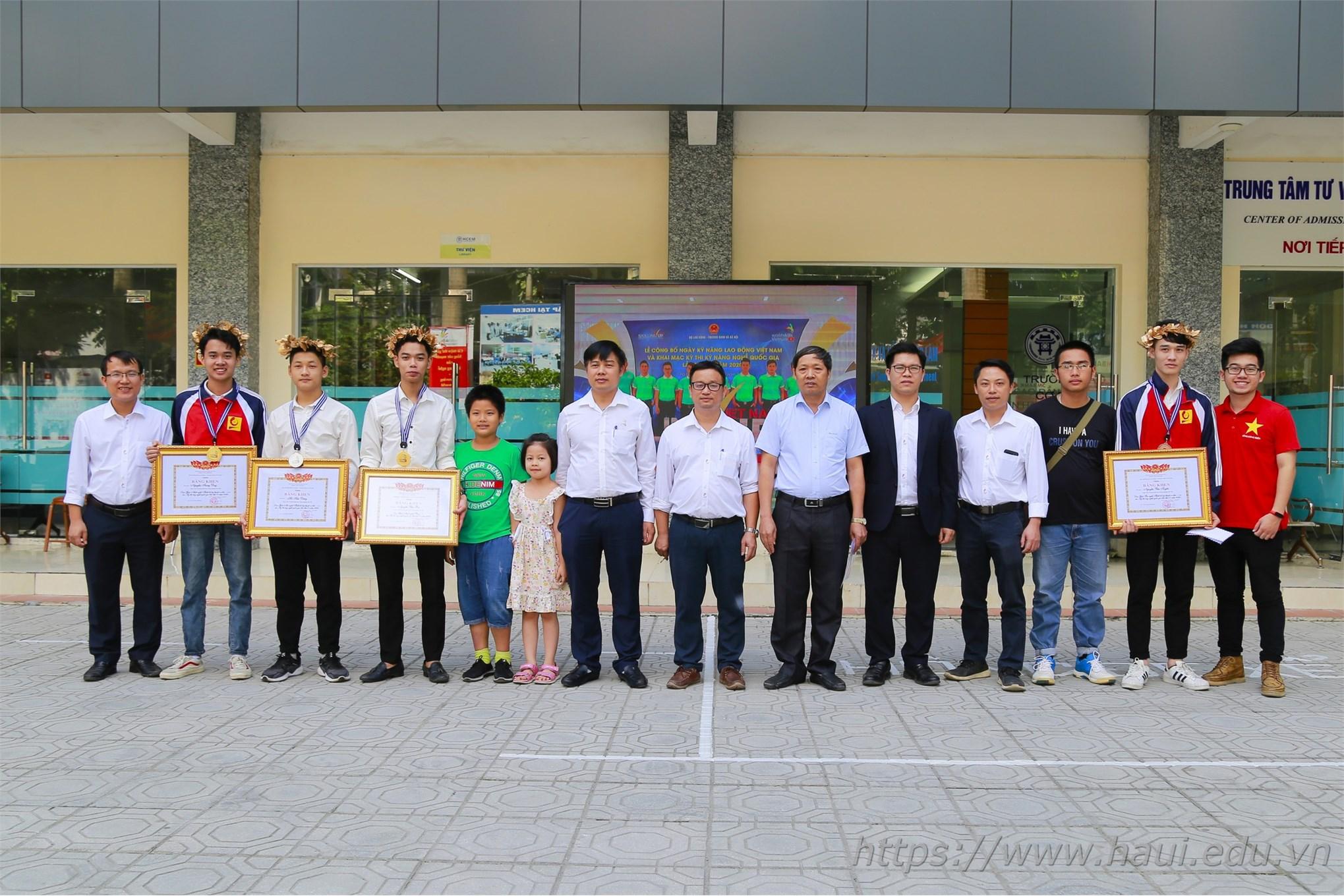 Đoàn thí sinh Đại học Công nghiệp Hà Nội đạt 4 huy chương vàng tại Kỳ thi Kỹ năng nghề Quốc gia năm 2020