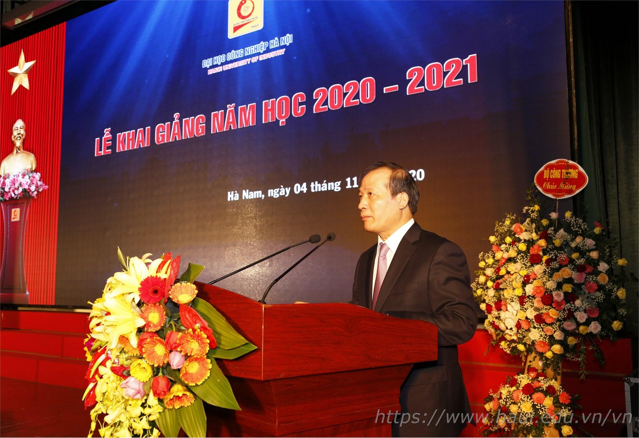 Thứ trưởng Cao Quốc Hưng khẳng định: Đại học Công nghiệp Hà Nội luôn là trường đi đầu trong tuyển sinh, đào tạo của Bộ Công Thương