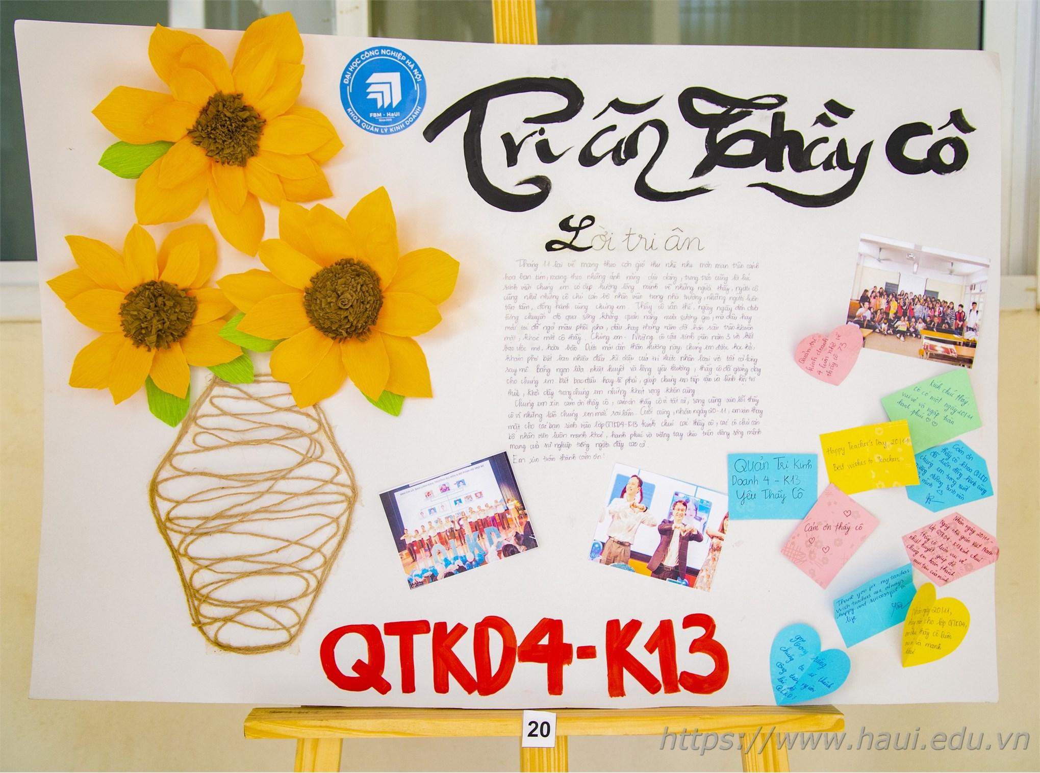 Cuộc thi thiệp tri ân của sinh viên khoa QLKD, ĐHCNHN
