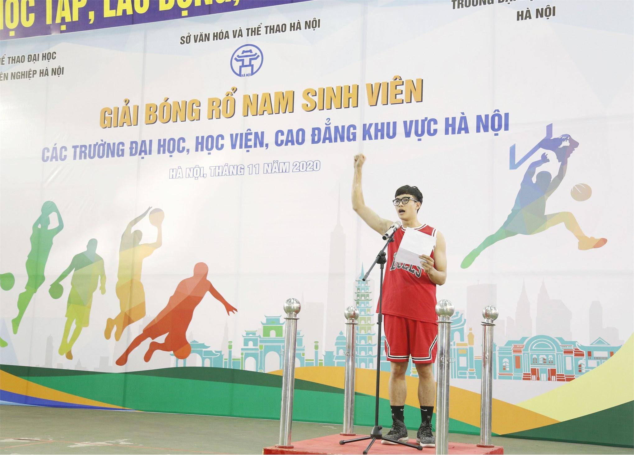Khai mạc Giải bóng rổ nam sinh viên Hà Nội năm 2020