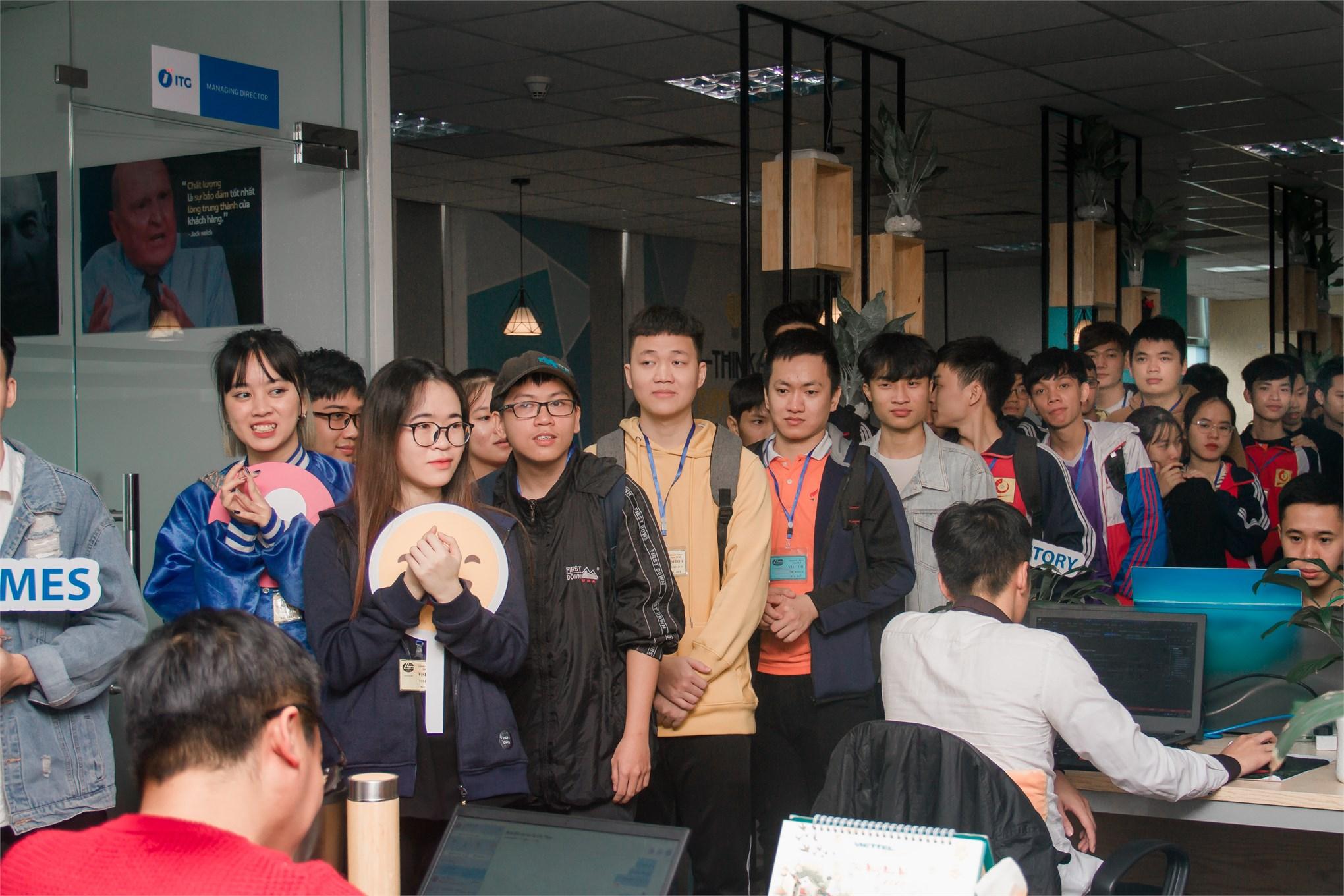 Trải nghiệm môi trường làm việc ITG cùng các bạn sinh viên ĐH Công nghiệp Hà Nội