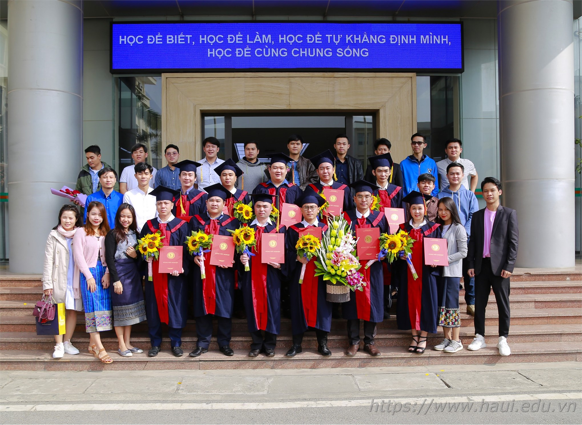 Graduation Ceremony and Award of Master's Degree for 12 Lao students
